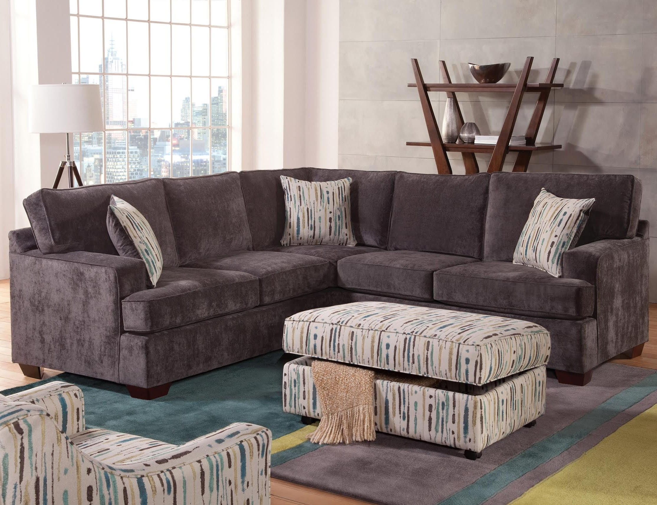 100X100 Sectional Sofas In Current Furniture : Zella Sectional Sofa Couch's Corner Berries Sectional (Gallery 1 of 15)
