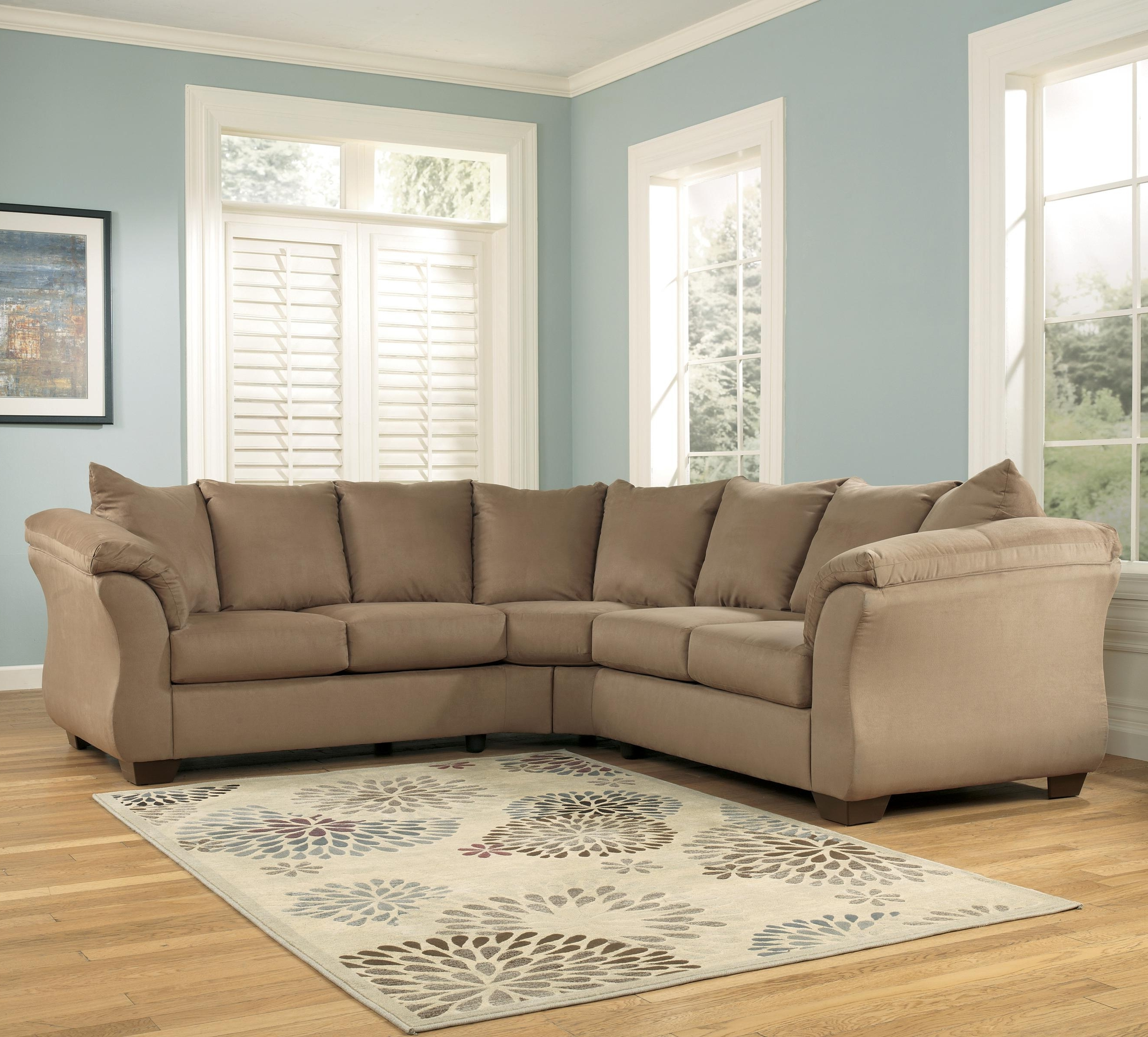 102X102 Sectional Sofas Intended For Newest Signature Designashley Darcy – Mocha Contemporary Sectional (View 13 of 15)