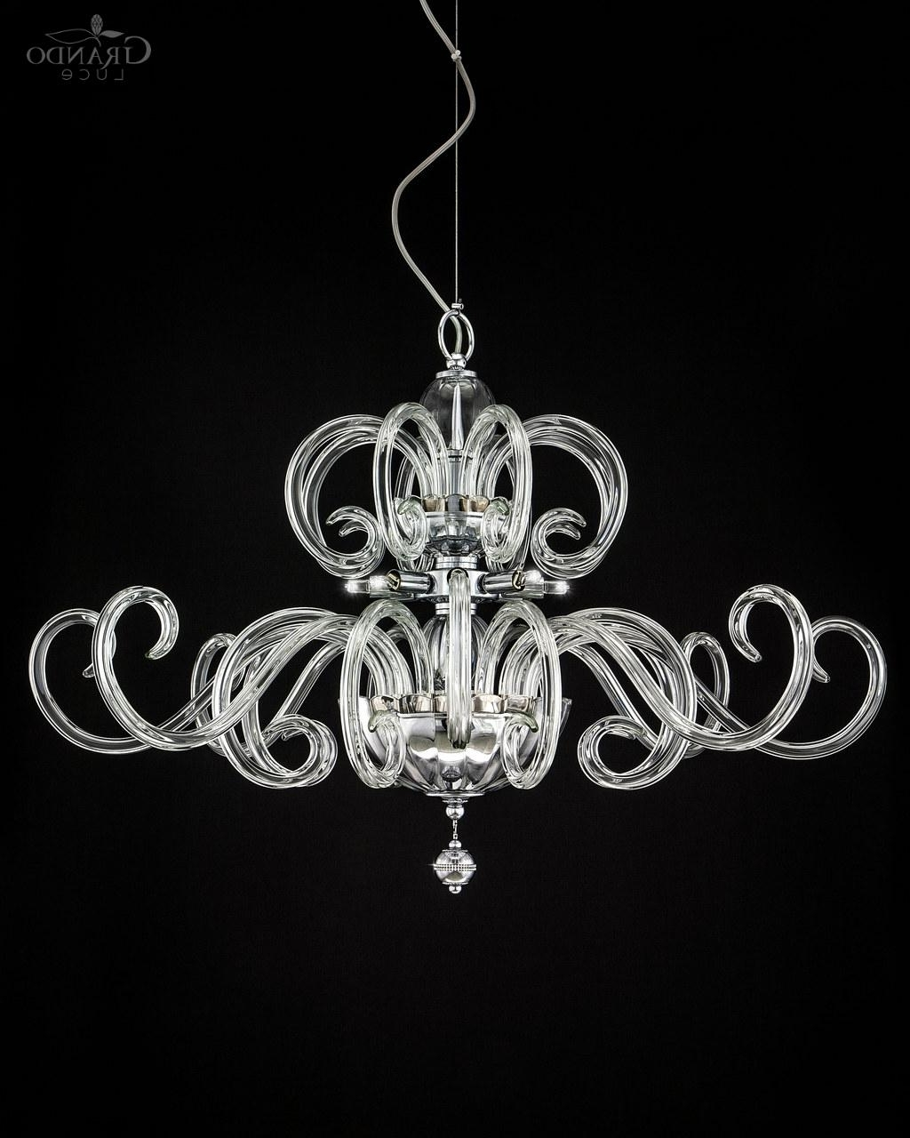 119/sg Chrome Modern Crystal Chandelier With Crystal Swarovski Within Best And Newest Chrome And Crystal Chandeliers (View 12 of 15)