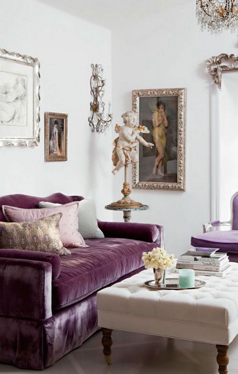 12 Royally Purple Velvet Sofas For The Living Room In 2017 Velvet Purple Sofas (View 9 of 15)