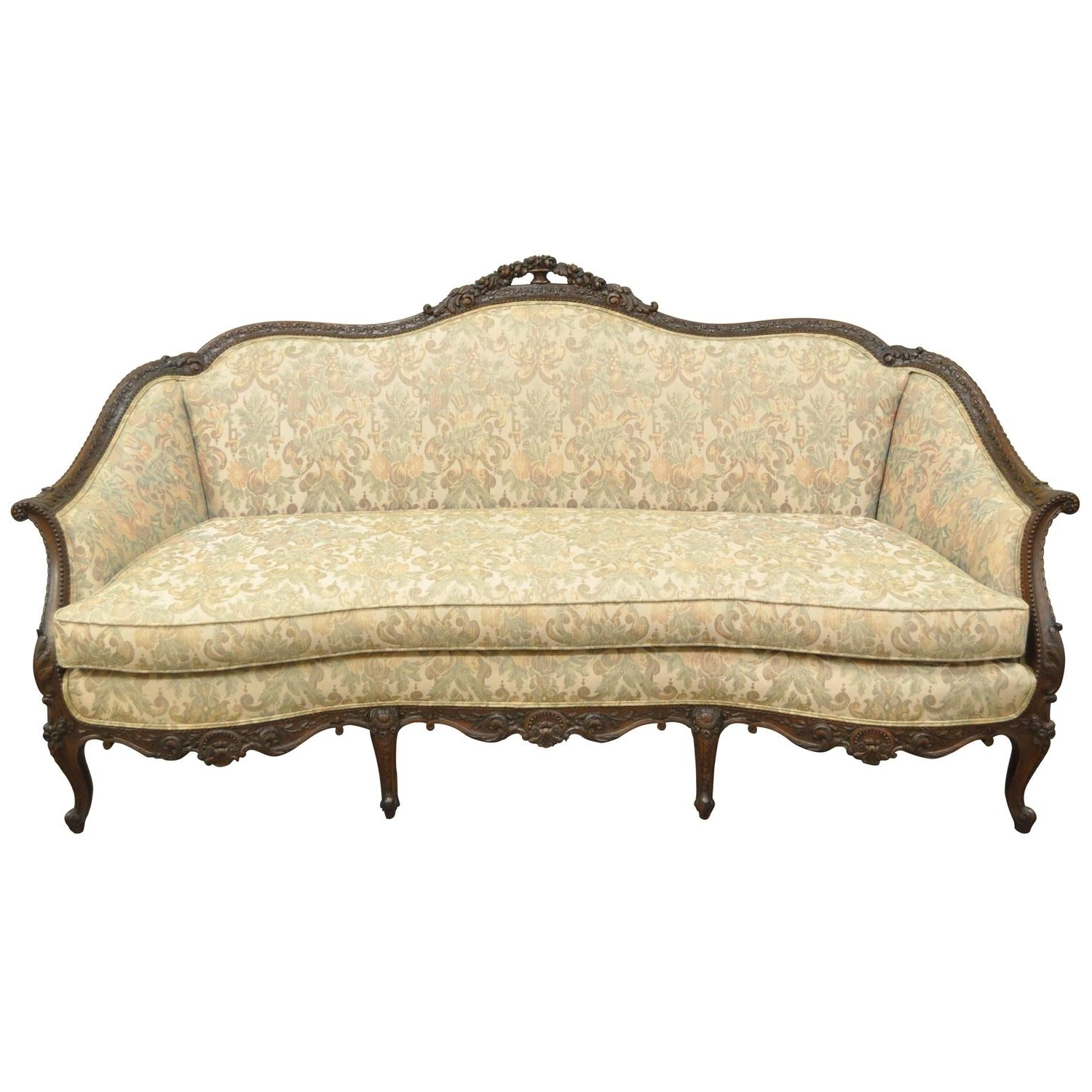 1930S French Louis Xv Hollywood Regency Style Finely Carved For Most Popular 1930S Sofas (View 7 of 15)