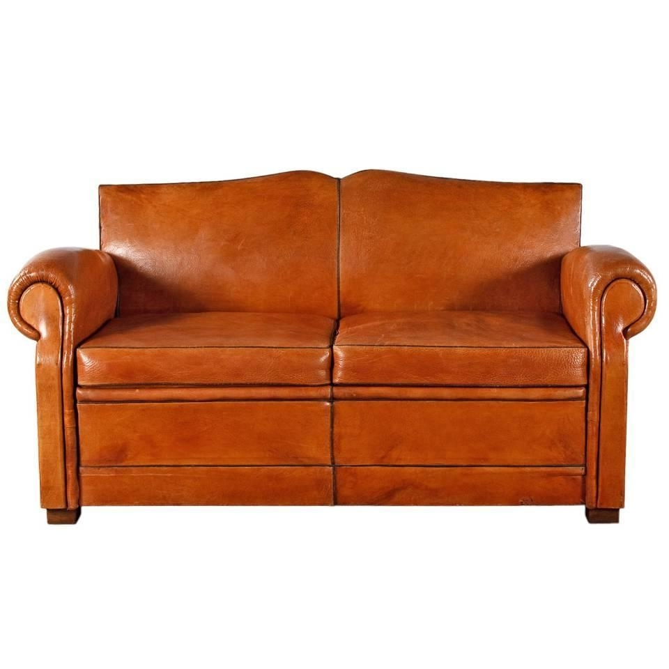 1930S Sofas Intended For Most Popular French Art Deco Leather Club Sofa, 1930S At 1Stdibs (Gallery 11 of 15)