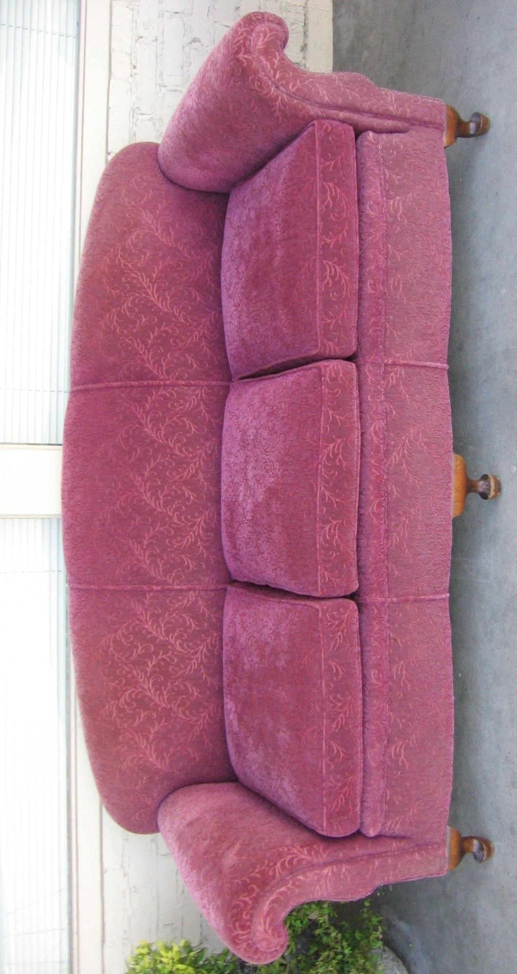 1930S Sofas Intended For Trendy 1930's Sofa Love The Curves:) Nylon Frieze (Frise') Fabric (View 8 of 15)