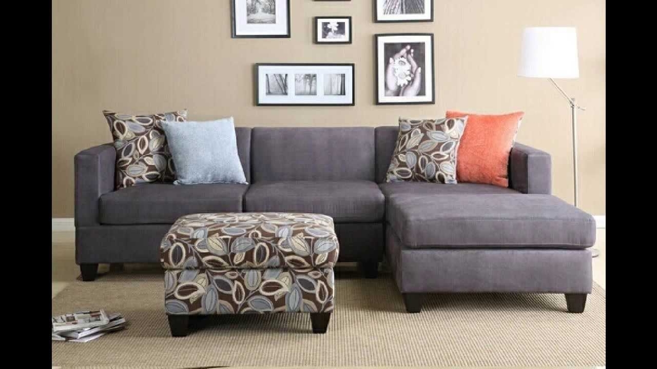 2 Pc Charcoal Microfiber Sectional Sofa With Reversible Chaise In Most Up To Date Microfiber Sectional Sofas With Chaise (View 1 of 15)