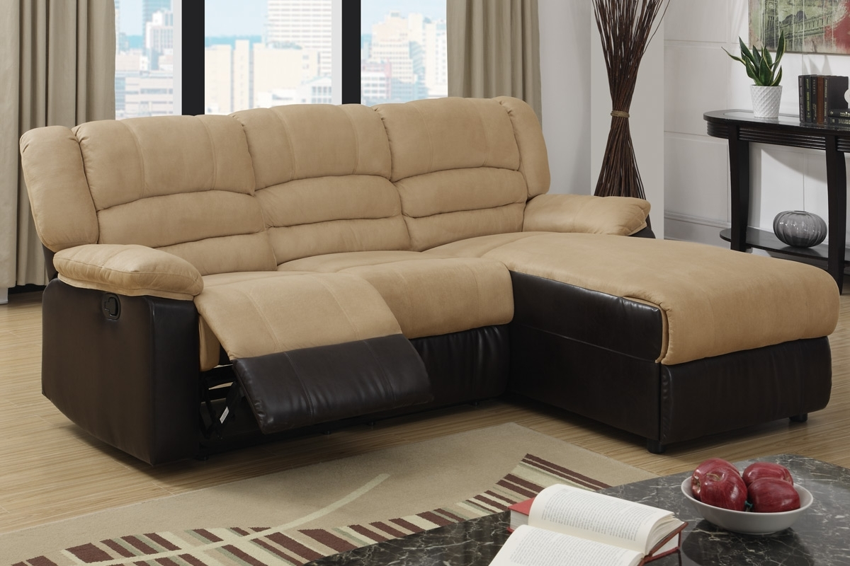 2 Pc Greenbrooke Collection 2 Tone Hazelnut Microfiber And Brown Intended For Best And Newest London Ontario Sectional Sofas (View 13 of 15)