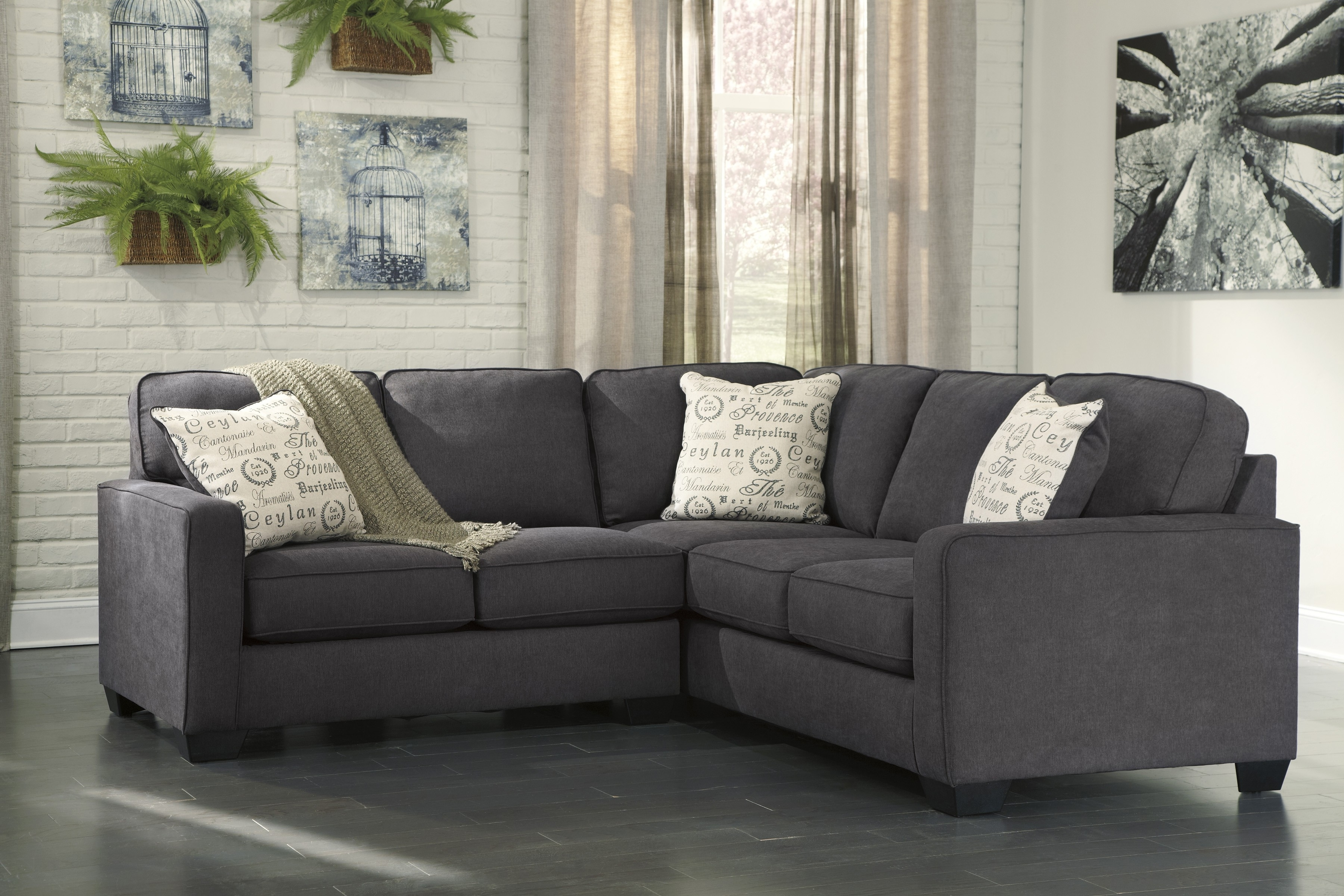 2 Piece Sectional Sofas With Chaise In Widely Used Alenya Charcoal 2 Piece Sectional Sofa For $ (View 1 of 15)