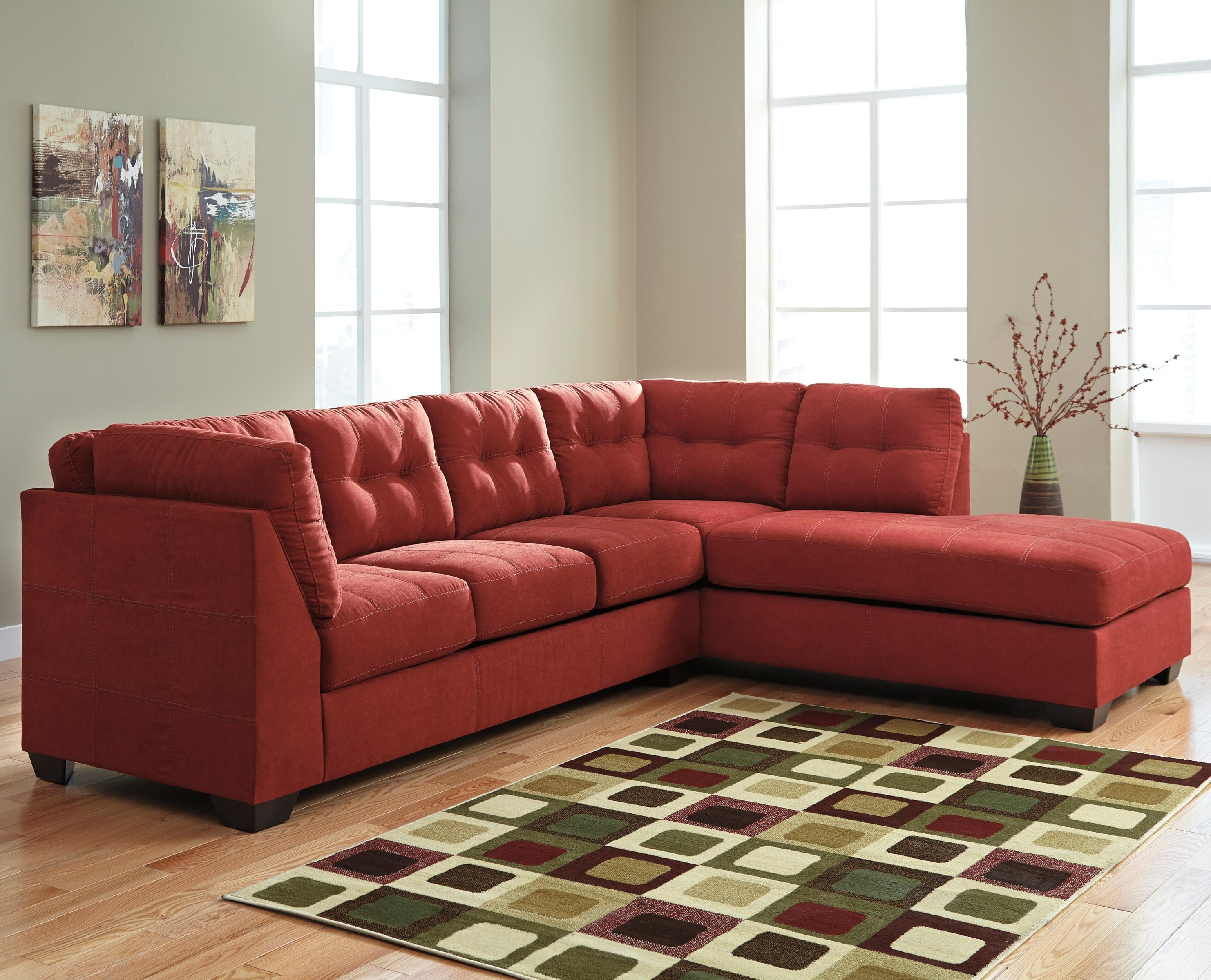 2 Piece Sectional W/ Sleeper Sofa & Left Chaisebenchcraft With Well Liked Red Sleeper Sofas (View 1 of 15)