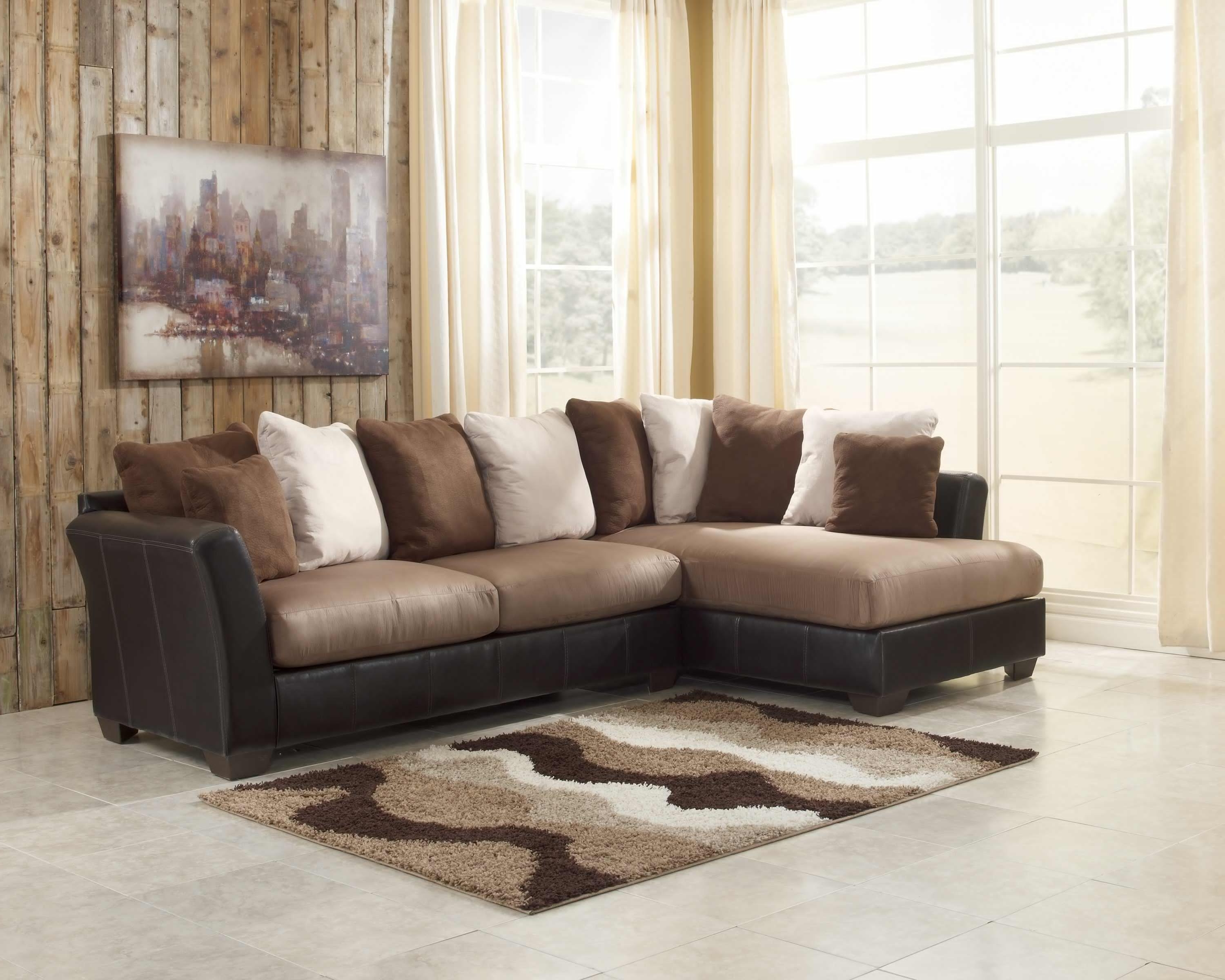 2 Piece Sectionals With Chaise Throughout Fashionable Sectional Sofa Design: Two Piece Sectional Sofa Chaise Leather (View 1 of 15)