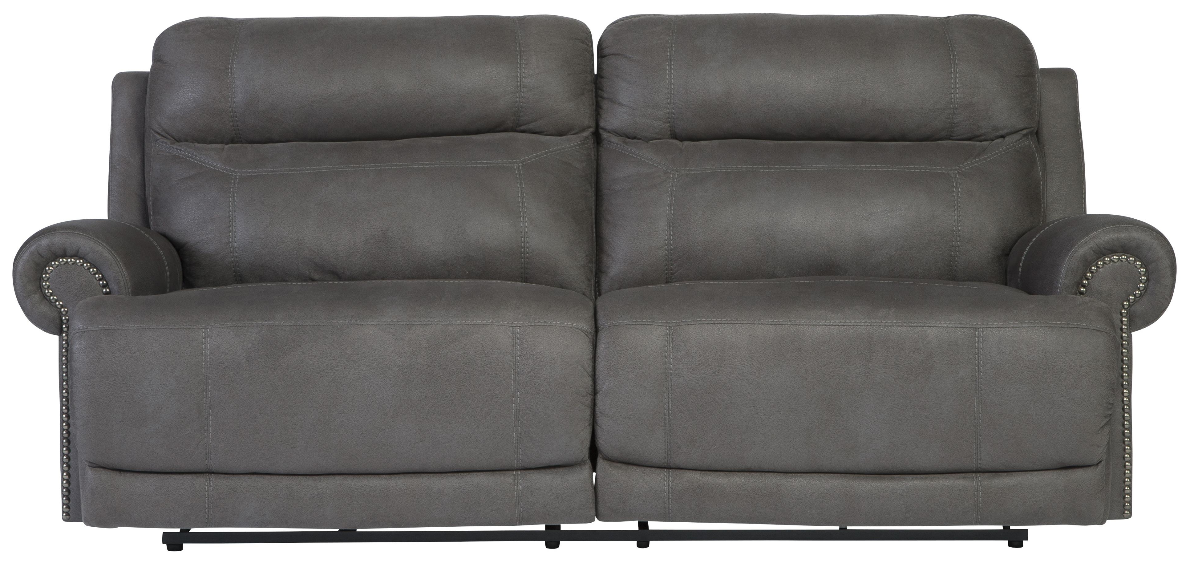 2 Seat Recliner Sofas Within Fashionable Signature Designashley Austere – Gray 2 Seat Reclining Sofa (View 3 of 15)