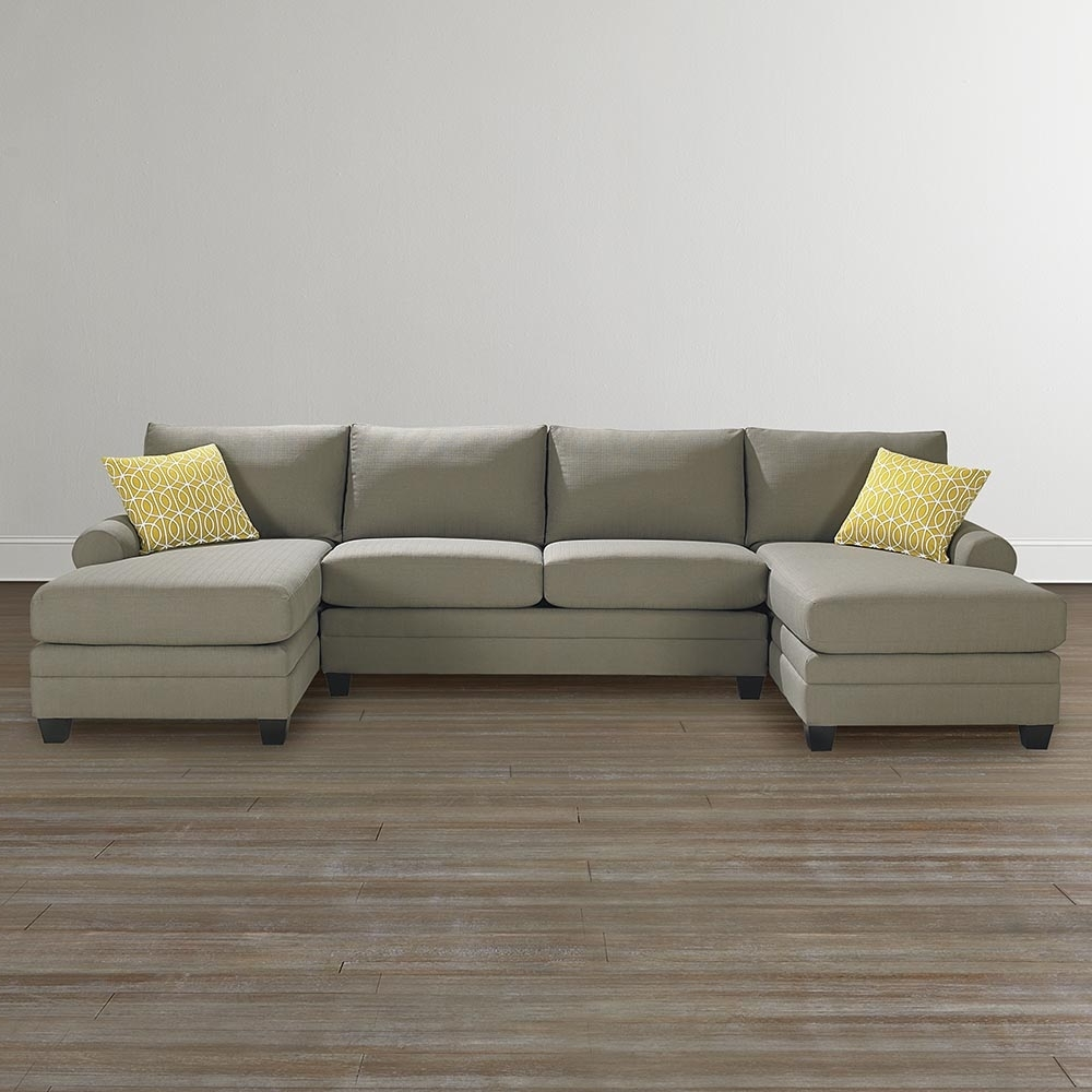 2 Seat Sectional Sofas With Latest Cu 2 Upholstered Double Chairse Sectional In Chaise Sofa (View 3 of 15)