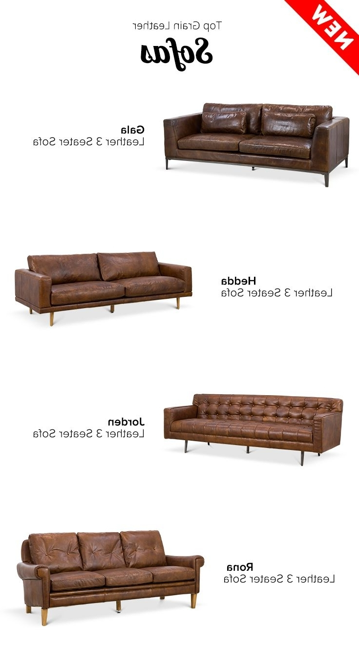 20 Best Vintage Leather Images On Pinterest Throughout Well Known Mid Range Sofas (View 15 of 15)