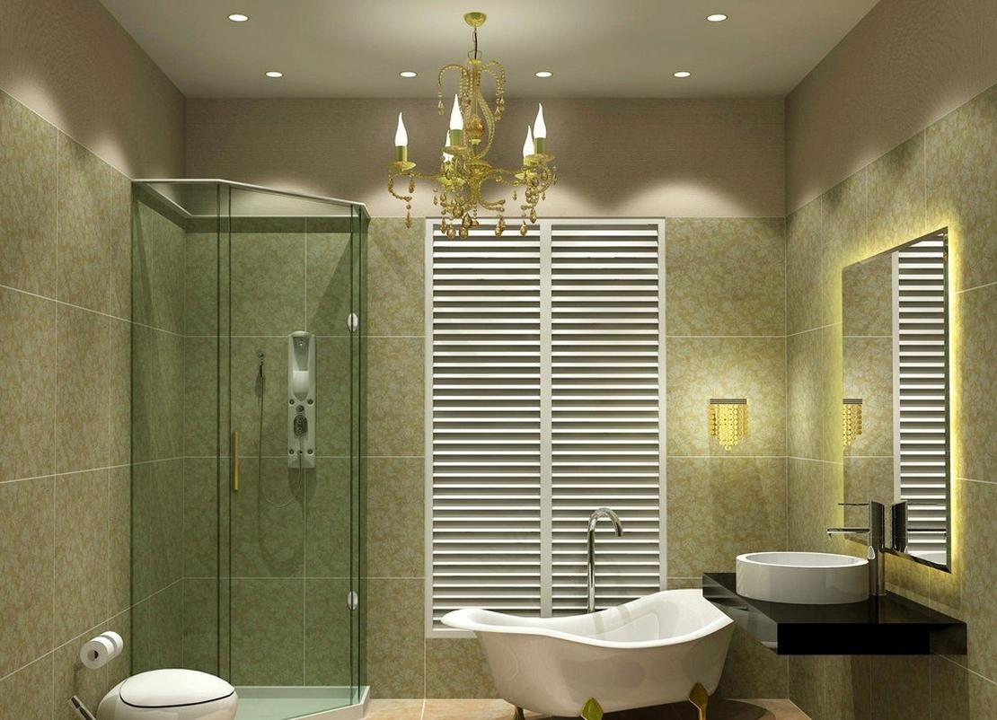 2017 4 Dreamy Bathroom Lighting Ideas – Midcityeast Inside Chandelier Bathroom Ceiling Lights (View 5 of 15)