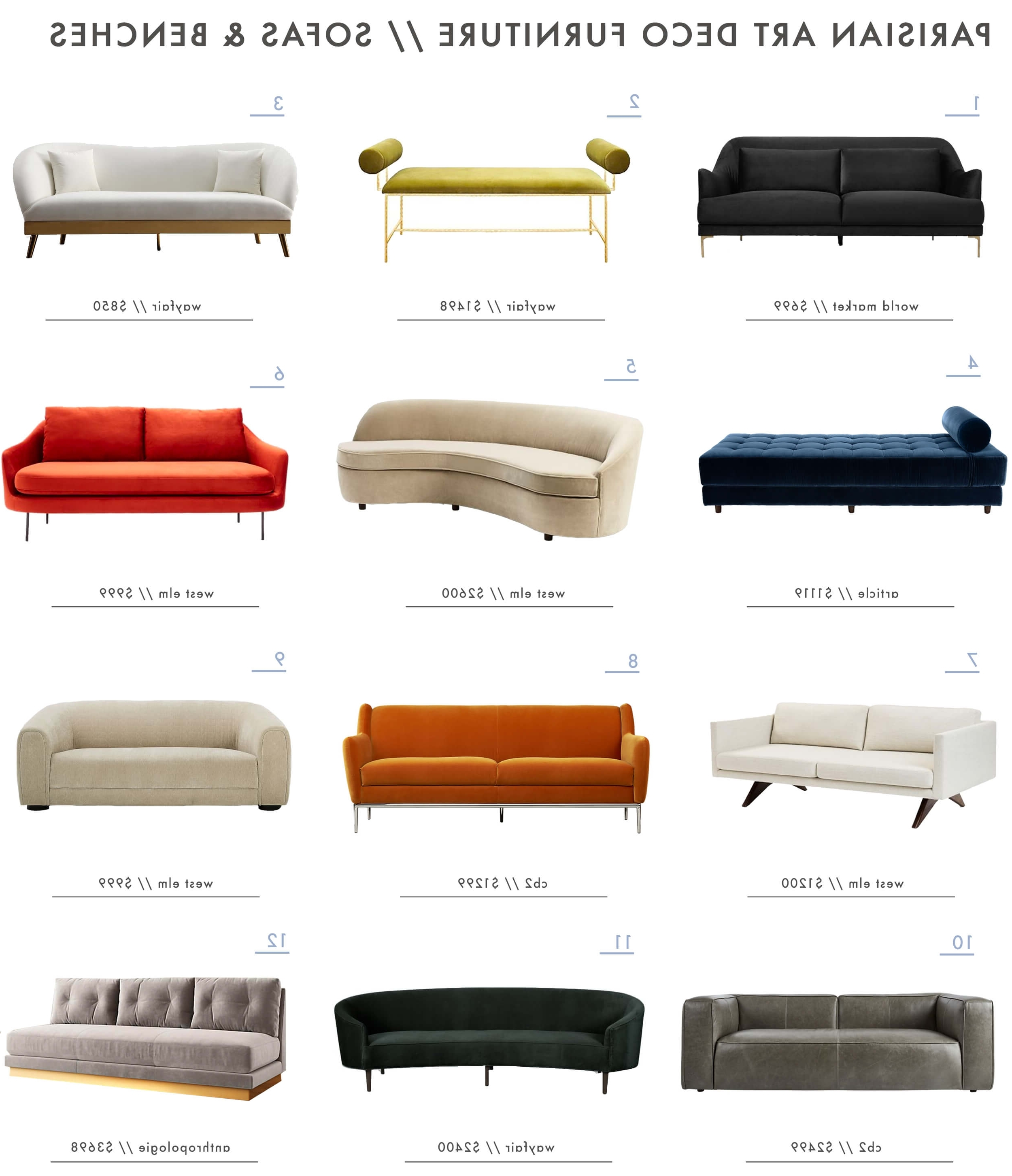 2017 Achieving The Parisian Art Deco Style: Furniture – Emily Henderson Within Art Deco Sofas (View 15 of 15)