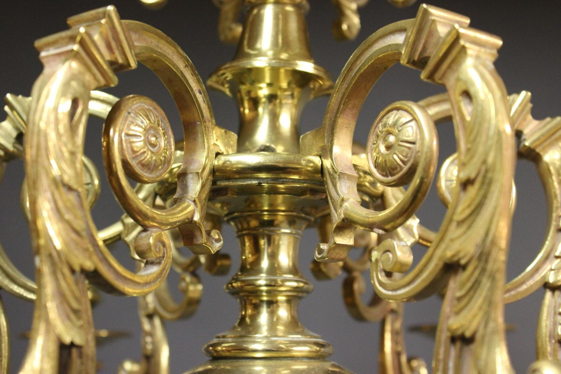 2017 Antique Brass Church Chandelier, 1850S For Sale At Pamono Throughout Brass Chandeliers (View 10 of 15)