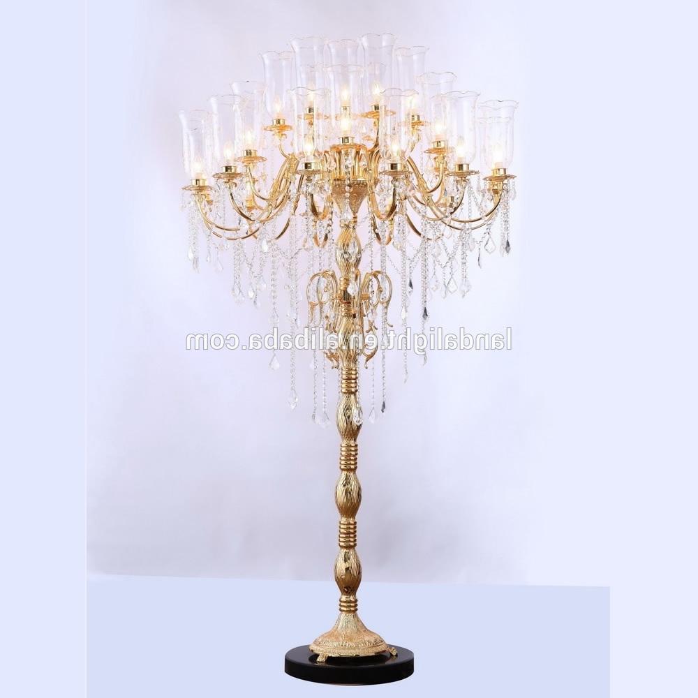 2017 Antique Crystal Chandelier Floor Lamps – Buy Crystal Chandelier Inside Crystal Chandelier Standing Lamps (View 8 of 15)