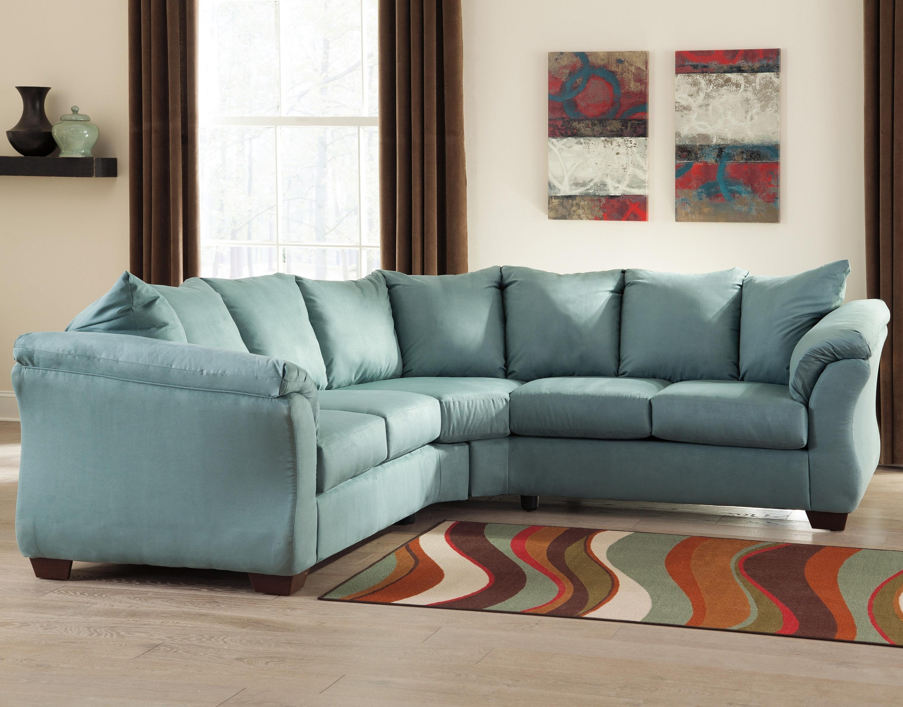 2017 Ashley (Signature Design) Darcy – Sky Contemporary Sectional Sofa For Johnny Janosik Sectional Sofas (View 2 of 15)