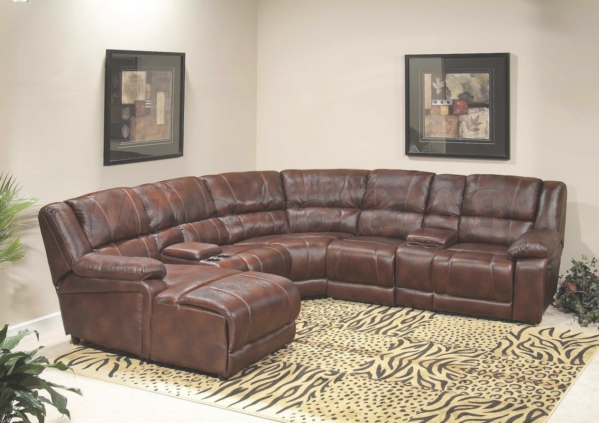 2017 Astounding Leather Reclining Sectional Sofa With Chaise 11 On For Cuddler Chaises (View 10 of 15)