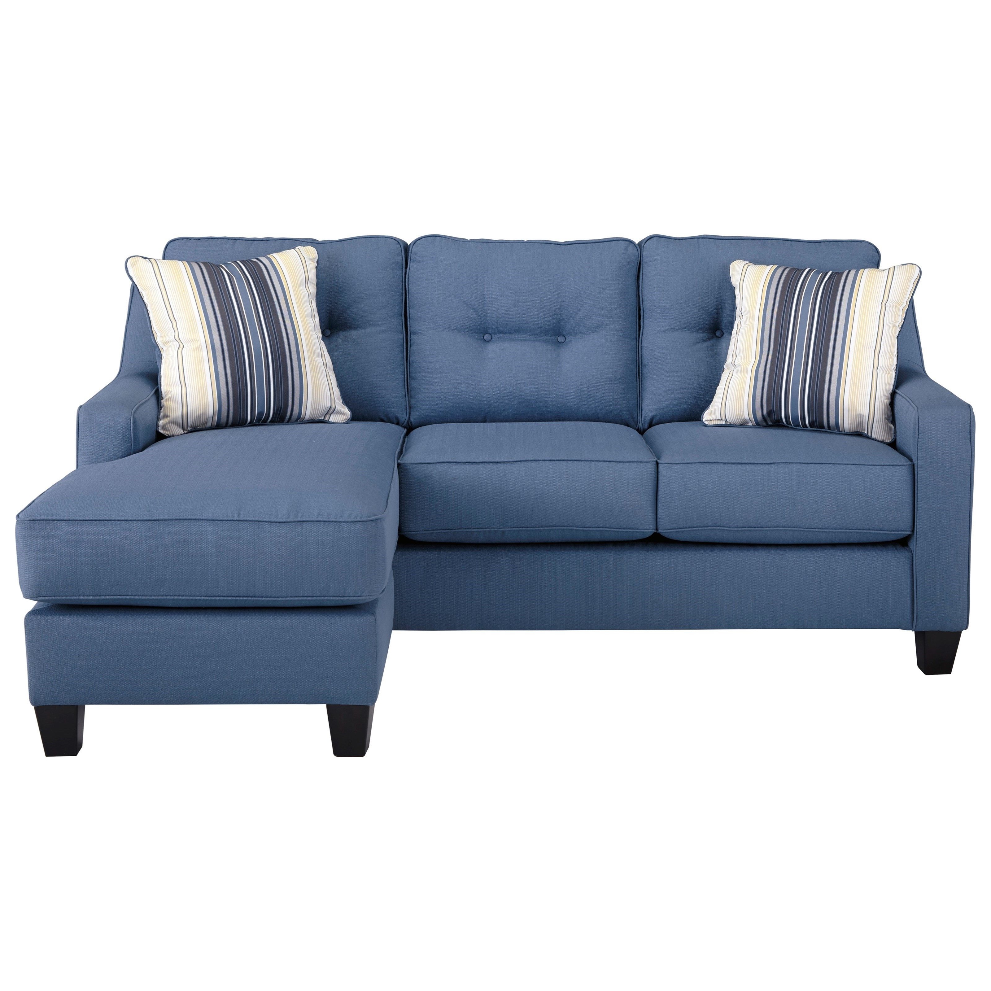 2017 Benchcraft Aldie Nuvella Queen Sofa Chaise Sleeper In Performance For Sleeper Sofa Chaises (View 4 of 15)