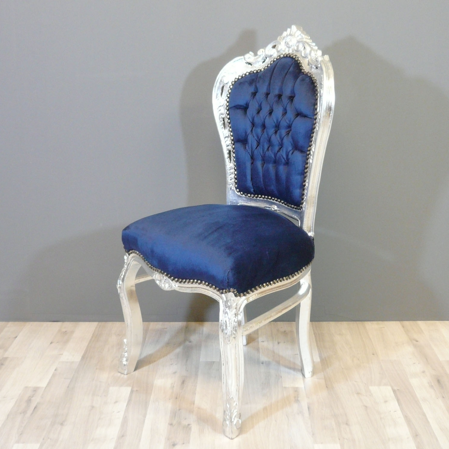 2017 Blue Chaises Throughout Baroque Blue Chair – Chairs Baroque (View 3 of 15)