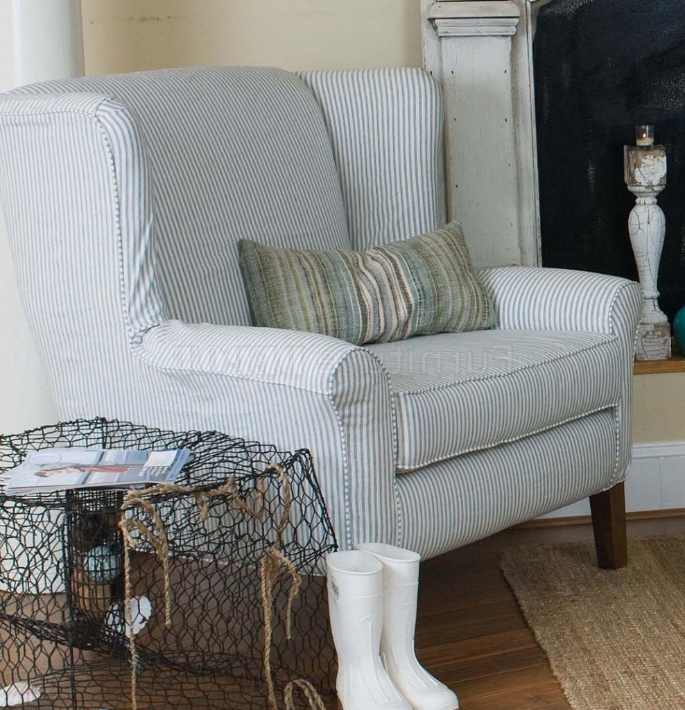 2017 Blue Stripe Sofas (View 2 of 15)