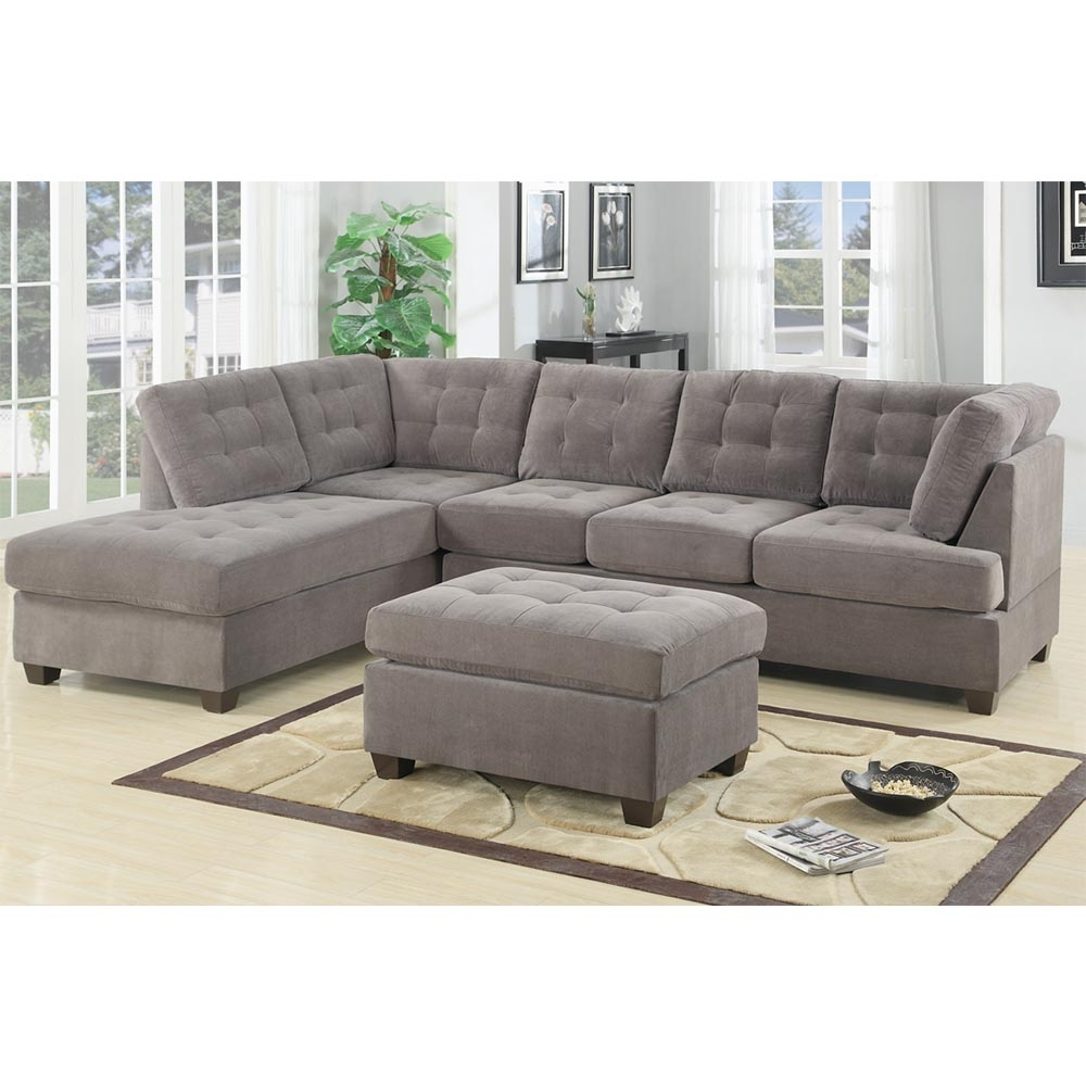 2017 Bobkona Austin 2 Piece Reversible Sectional Sofa Charcoal Within Sectional Sofas At Austin (View 11 of 15)