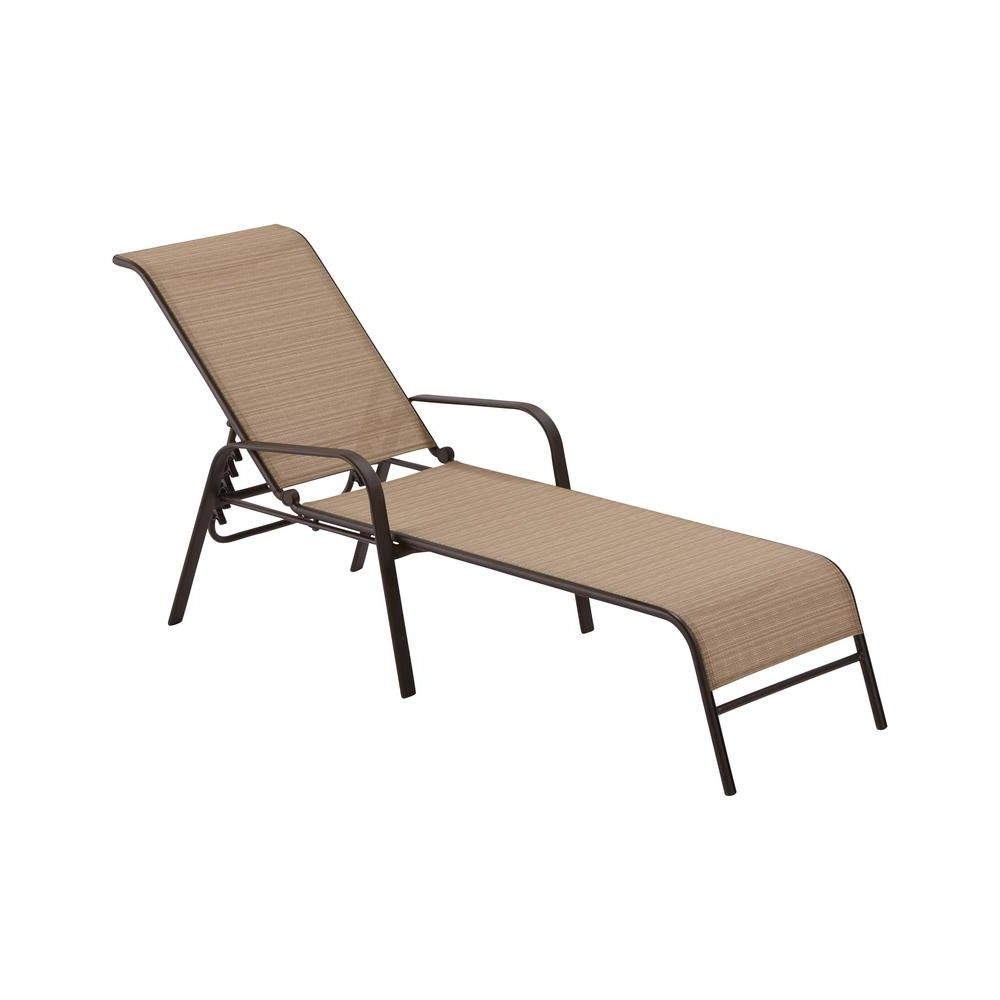 2017 Chaise Lounge Sling Chairs Regarding Hampton Bay Mix And Match Sling Outdoor Chaise Lounge Fls00036G W (View 1 of 15)