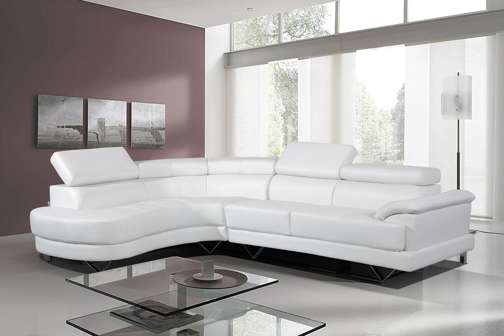 2017 Cheap White Leather Sofa – Home And Textiles Regarding White Leather Corner Sofas (View 1 of 15)
