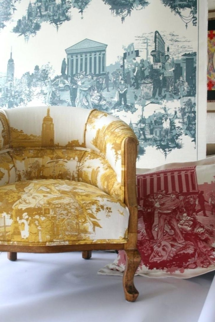 2017 Chintz Covered Sofas Inside Chairs: Chintz Chairs. Chintz Arm Chairs (View 1 of 15)