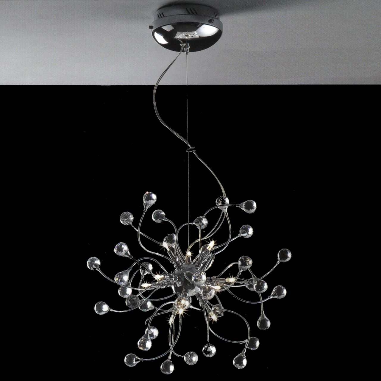 2017 Chrome And Crystal Chandeliers Within Brizzo Lighting Stores (View 2 of 15)