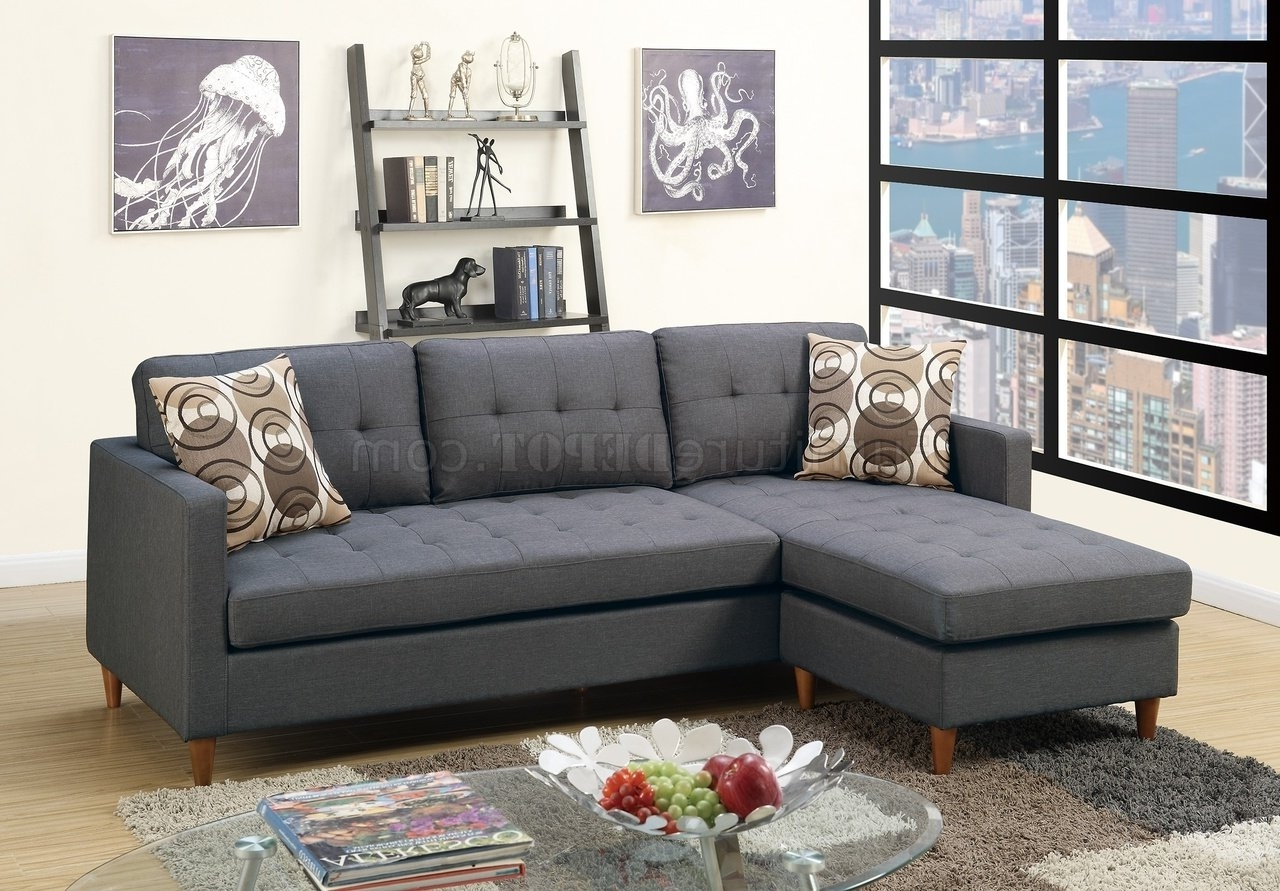 2017 F7094 Reversible Sectional Sofa In Blue Grey Fabricboss Inside North Carolina Sectional Sofas (View 4 of 15)