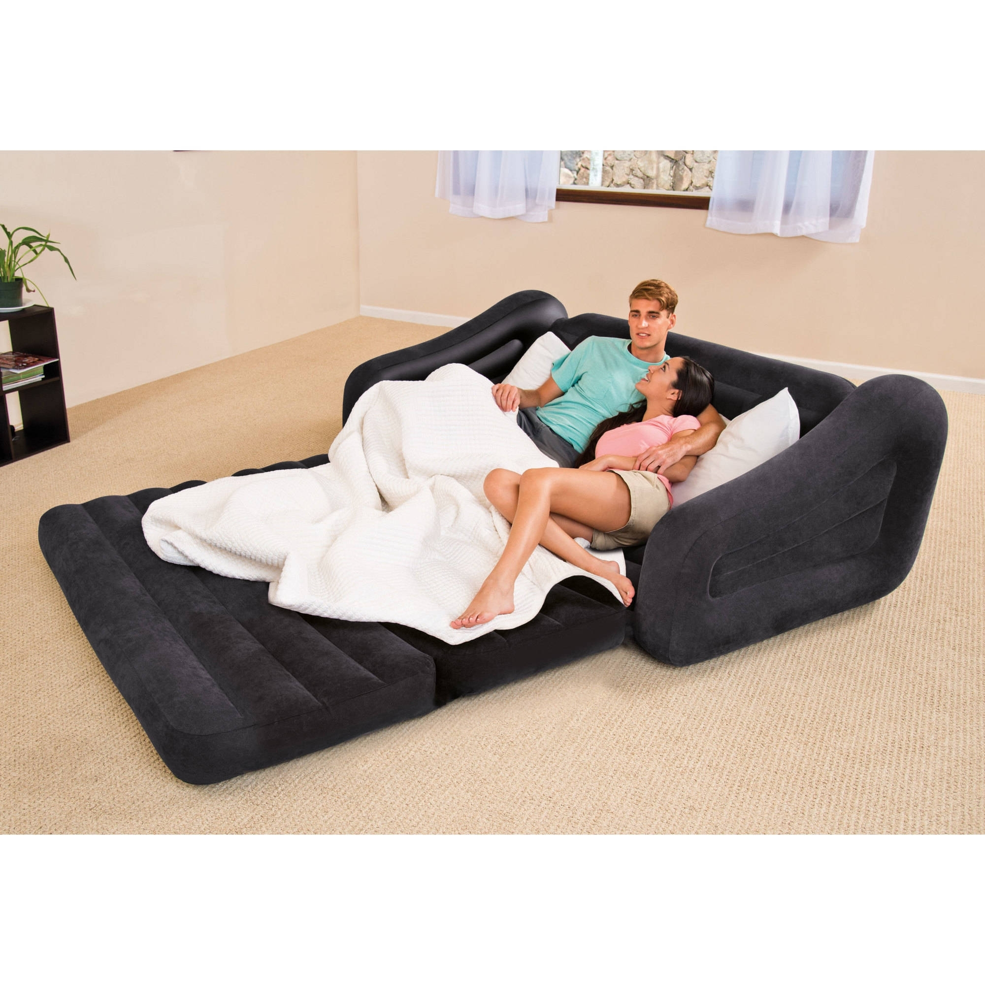 2017 Intex Queen Inflatable Pull Out Sofa Bed – Walmart Inside Pull Out Sofa Chairs (View 10 of 15)