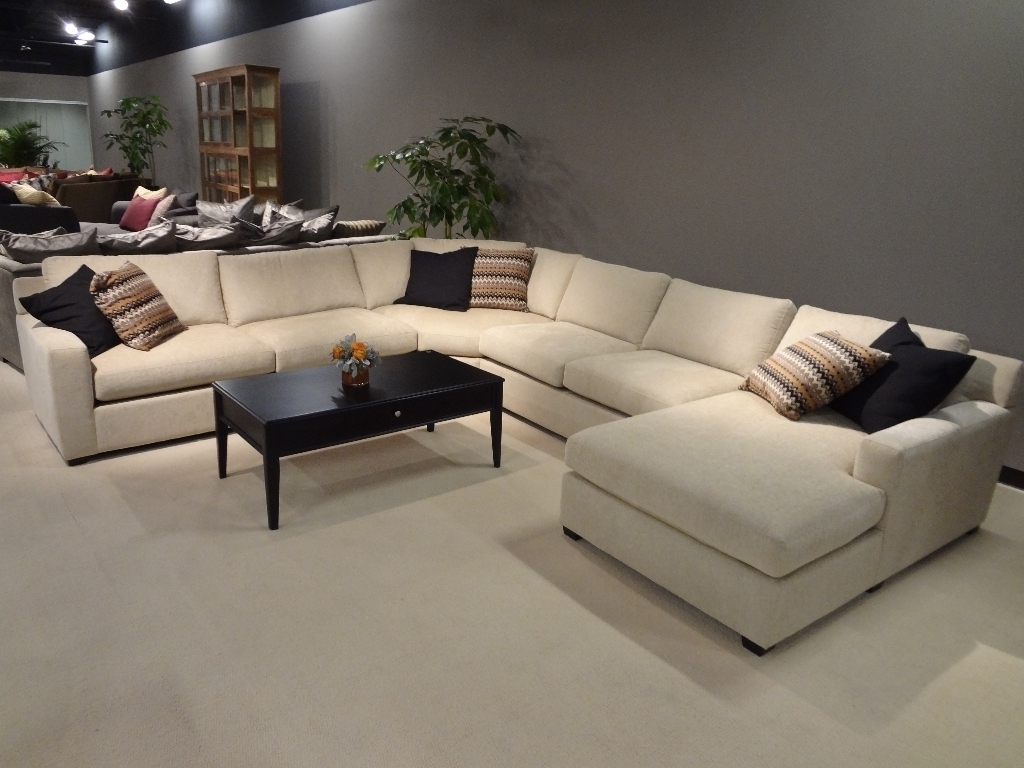 2017 Leather L Shaped Sectional Sofas Regarding Sofa : Large Sectional Sofas U Shaped Leather Sofa Fabric (View 12 of 15)