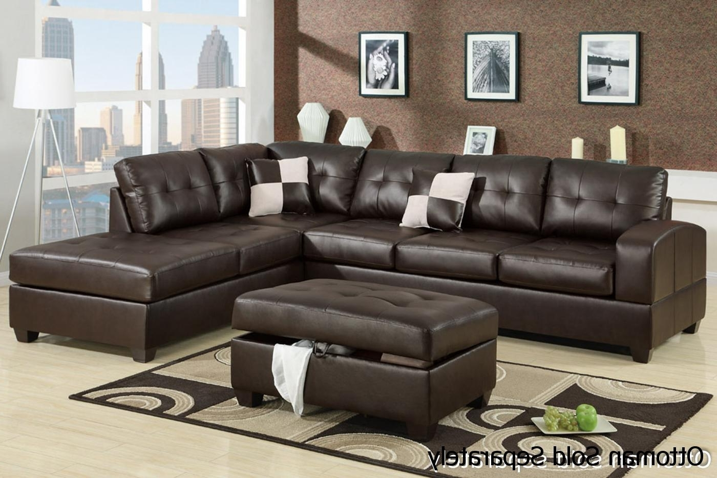 2017 Leather Sectional Sofas In Brown Leather Sectional Sofa – Steal A Sofa Furniture Outlet Los (View 1 of 15)