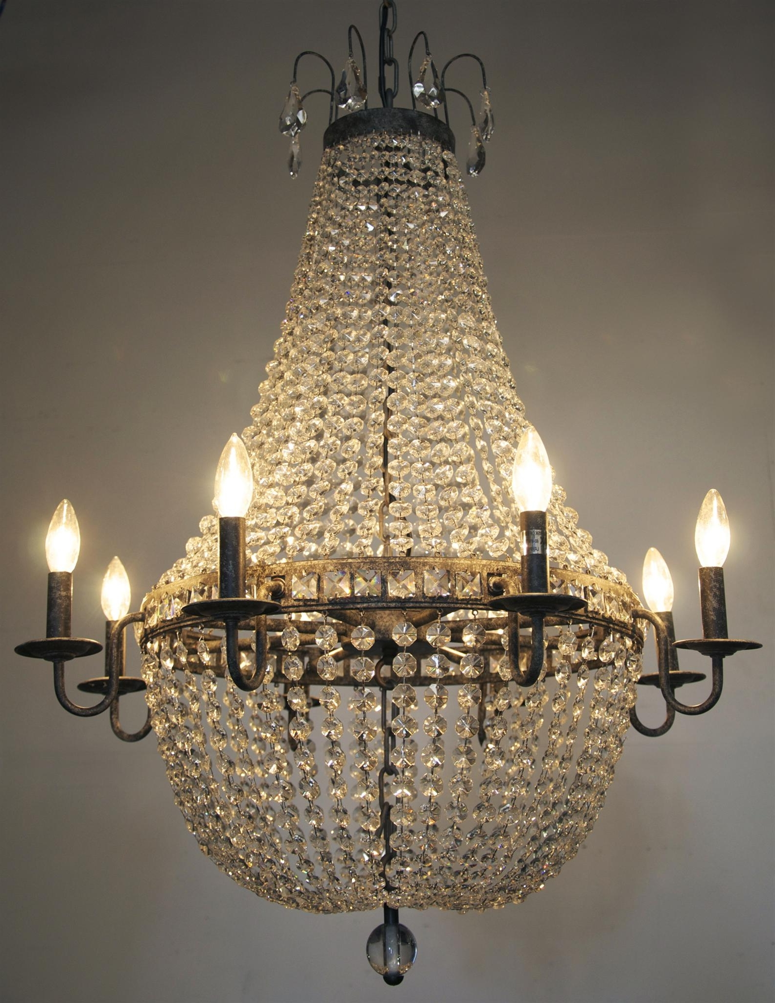 2017 Light : Stunning Antique Crystal Chandelier With Additional Of Intended For Antique Style Chandeliers (View 15 of 15)