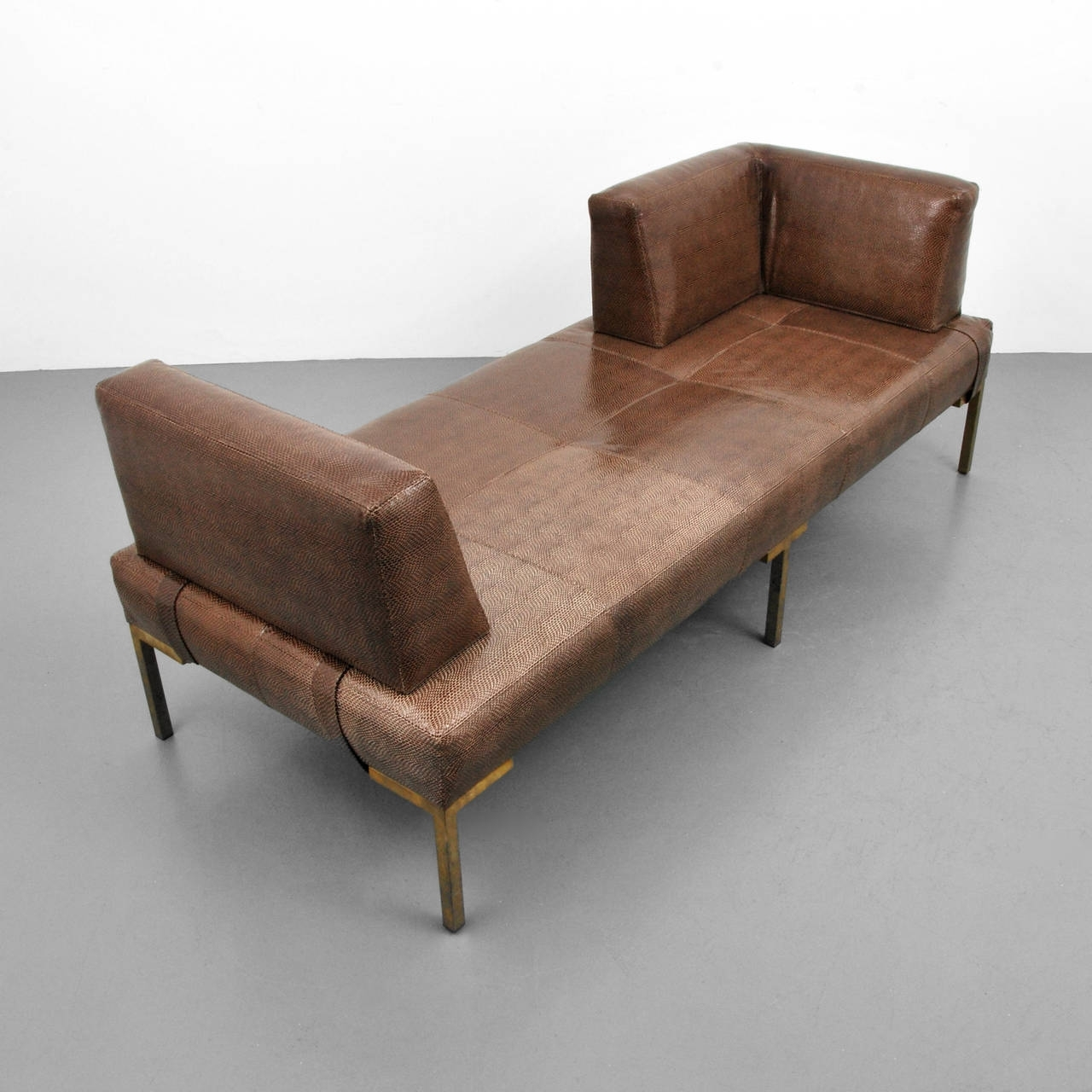 2017 Luigi Gentile Leather Daybeds Or Chaise Lounges, Two Available Pertaining To Modern Chaises (View 8 of 15)
