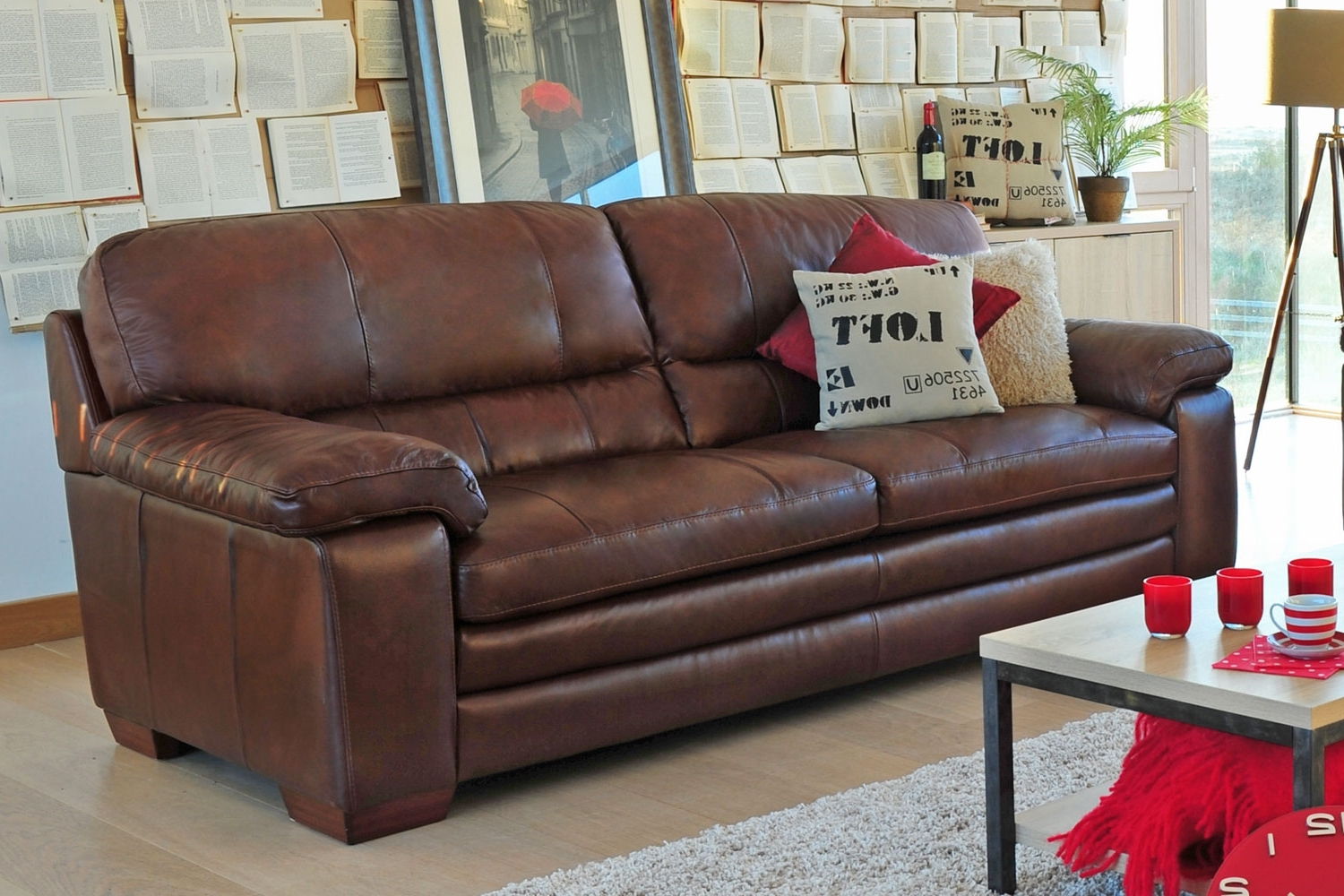 2017 Lumina 3 Seater Leather Sofa From Harvey Norman Ireland Inside 3 Seater Leather Sofas (View 6 of 15)