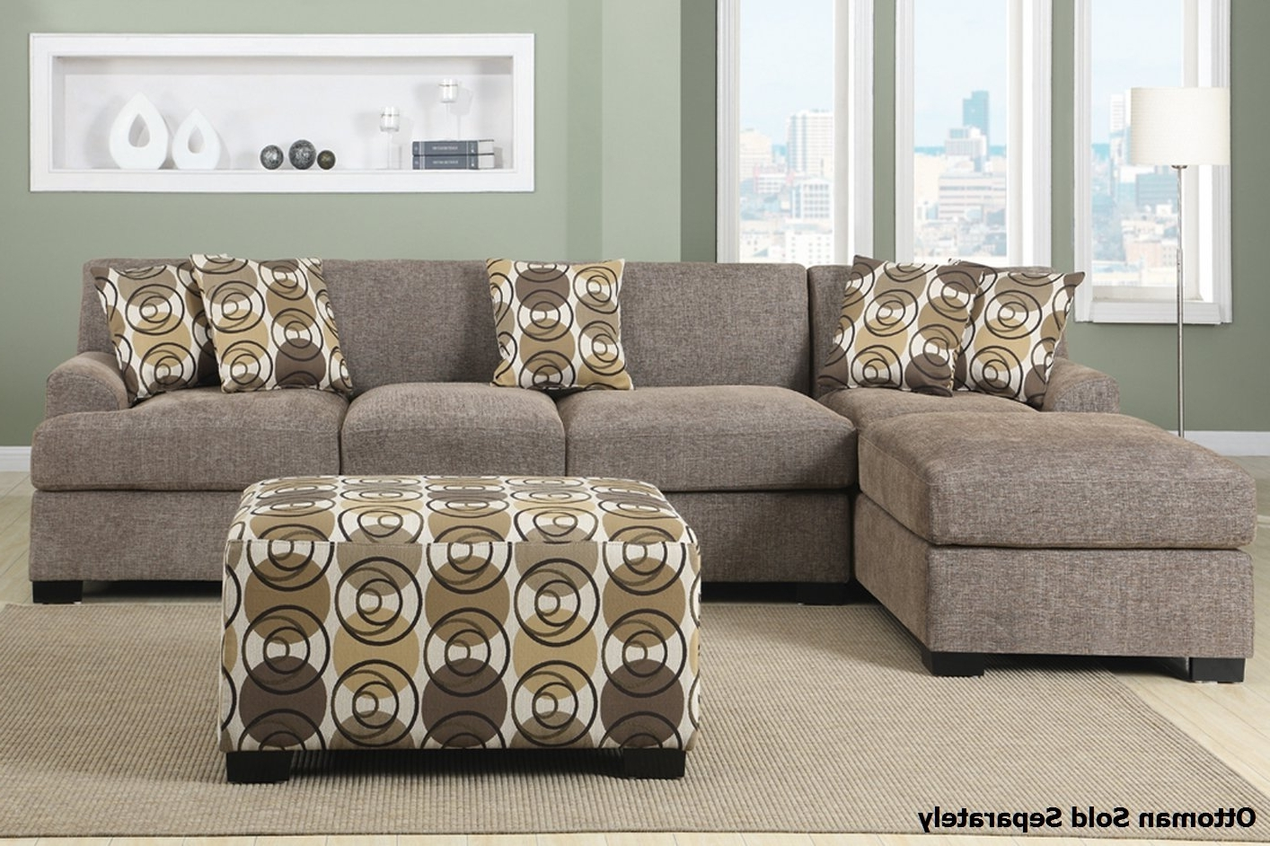2017 Montreal Iii Beige Fabric Sectional Sofa – Steal A Sofa Furniture Regarding Montreal Sectional Sofas (View 8 of 15)