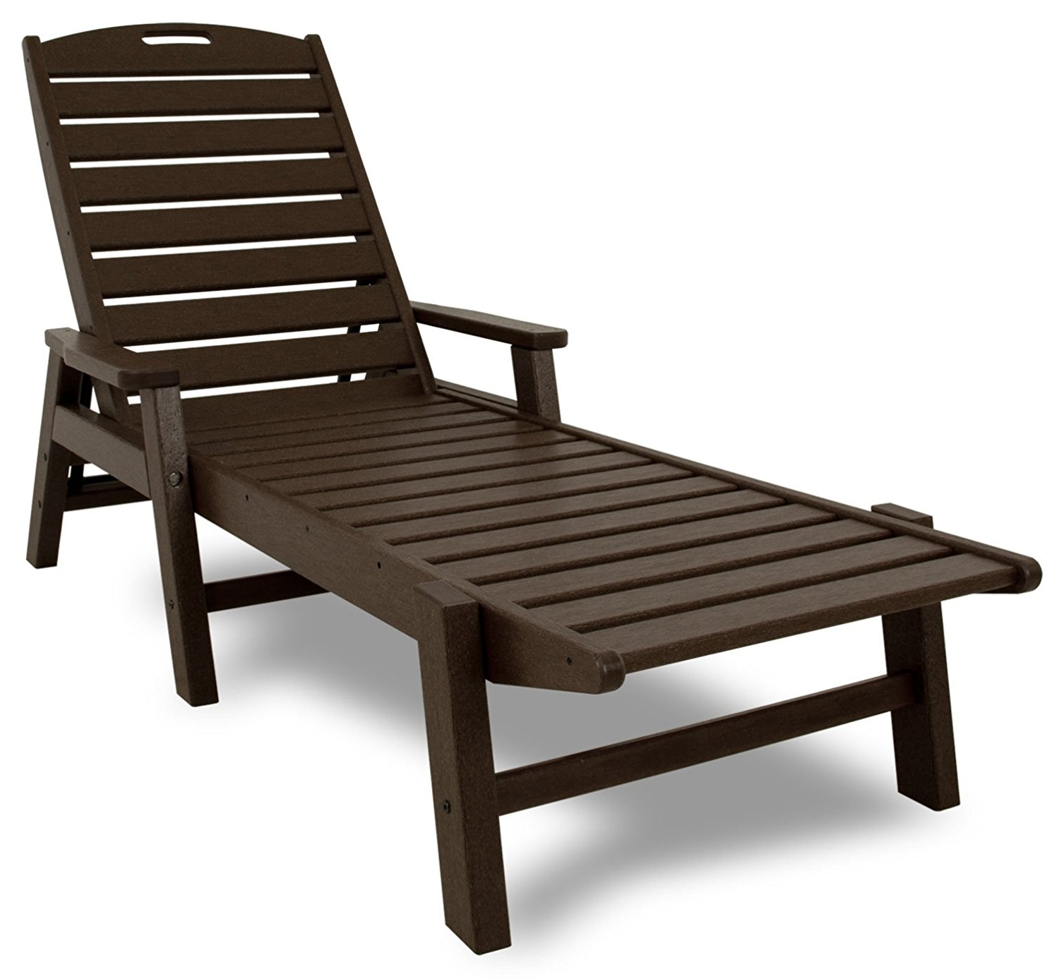 2017 Outdoor Chaise Lounge Chairs With Arms In Amazon : Polywood Ncc2280Ma Nautical Chaise With Arms (View 1 of 15)