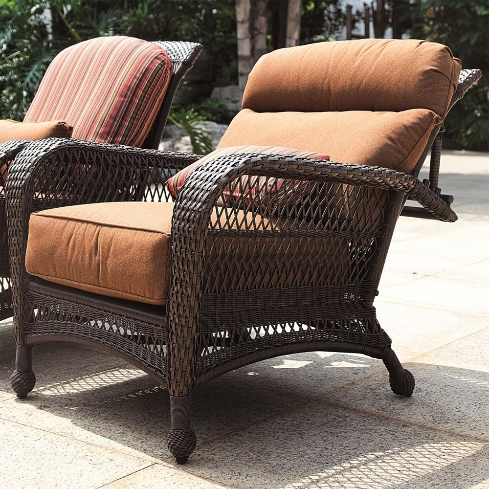 2017 Outdoor Sofas And Chairs Intended For Longboat Key Wicker Reclining Chair – Wicker (View 1 of 15)