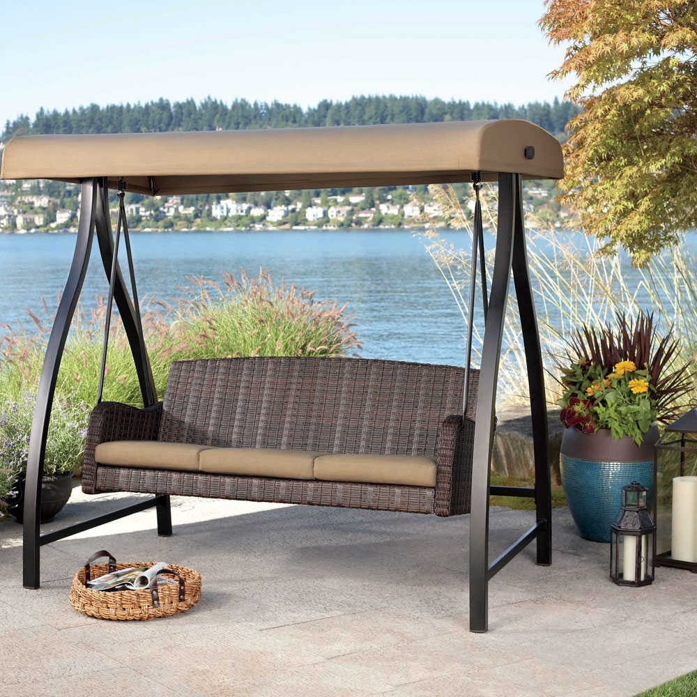 2017 Outdoor Sofas With Canopy Inside Patio Swing Set With Canopy Wzzye – Cnxconsortium (View 12 of 15)