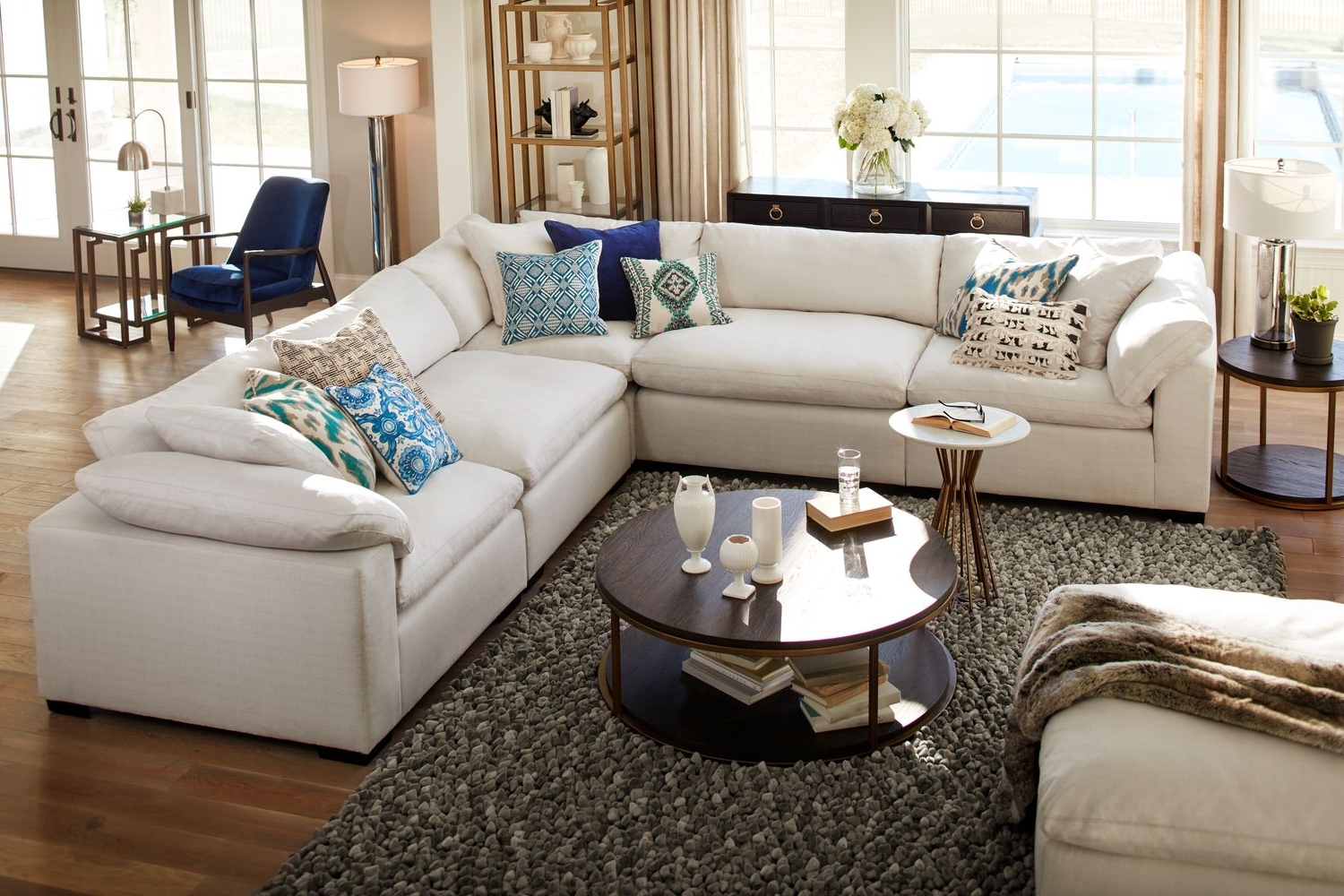 2017 Plush Sectional Sofas Pertaining To The Plush Sectional Collection – Anders Ivory (View 3 of 15)