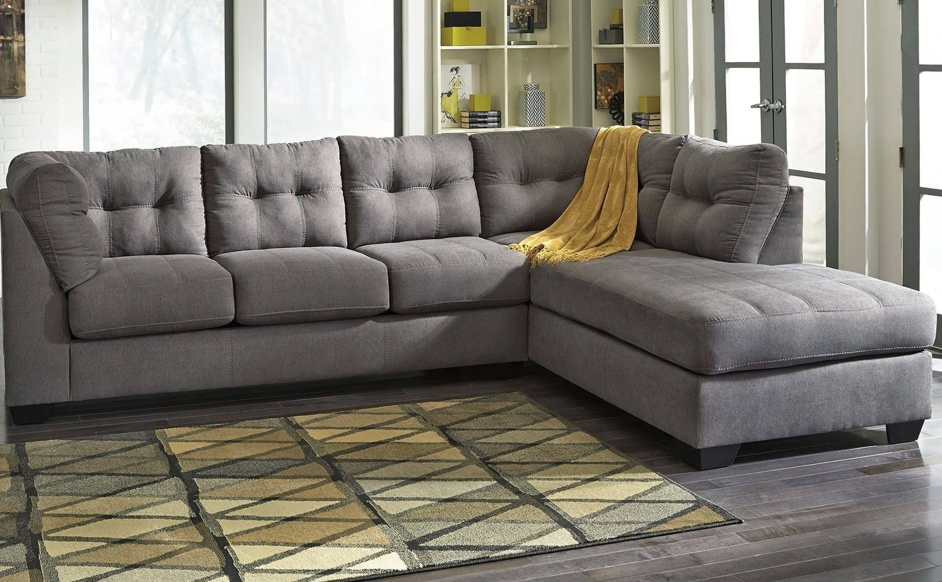 2017 Sectionals With Chaise Lounge Regarding Sofa : Grey Sectional With Chaise Oversized Sectional Sofa White (View 1 of 15)