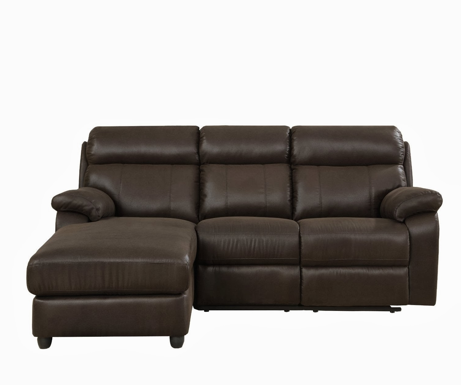 2017 Small High Back Leather Sectional Sofa With Chaise For 3 – Decofurnish For Sectional Sofas With High Backs (View 4 of 15)