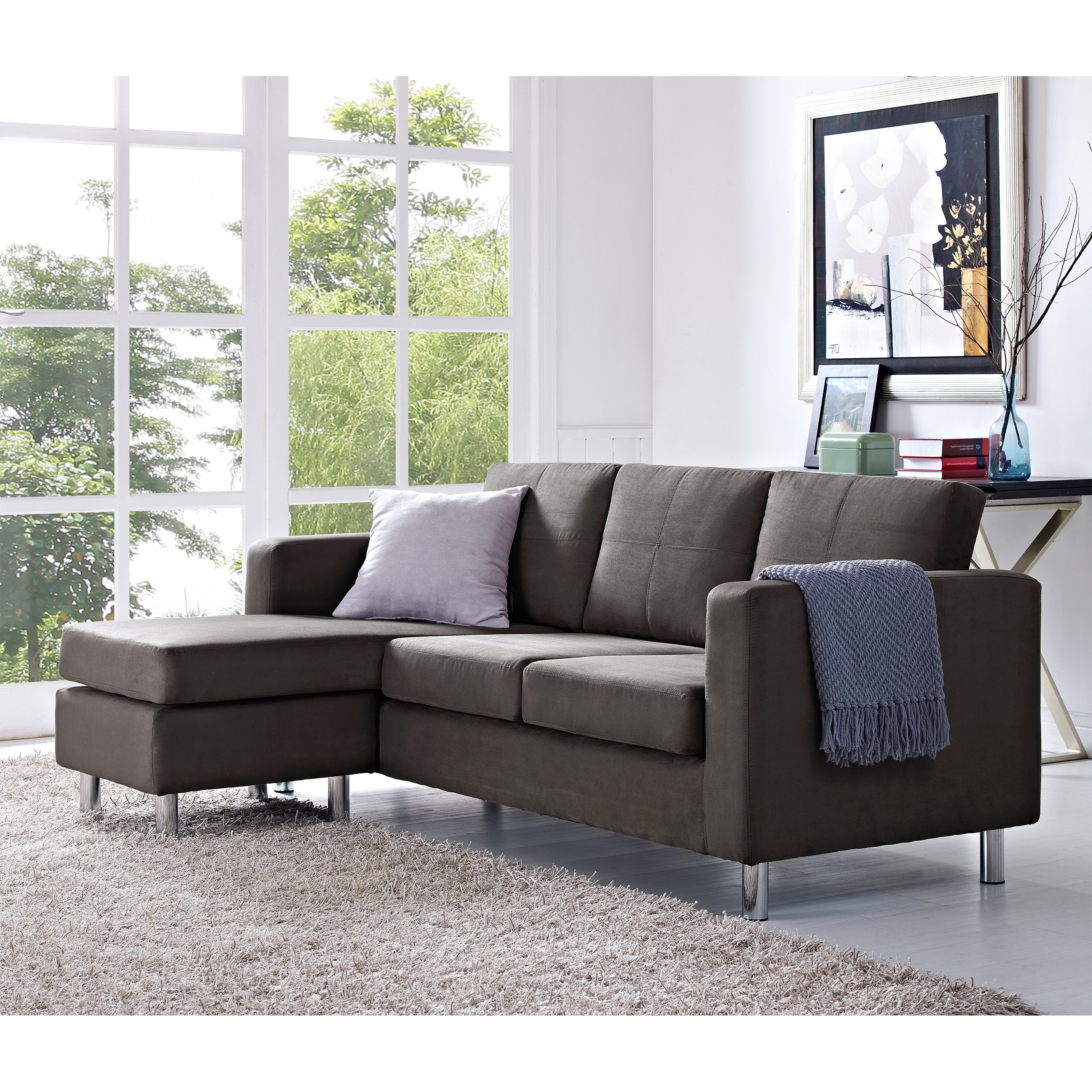 2017 Small Sectional Sofas For Small Spaces With Dorel Living Small Spaces Configurable Sectional Sofa (View 2 of 15)
