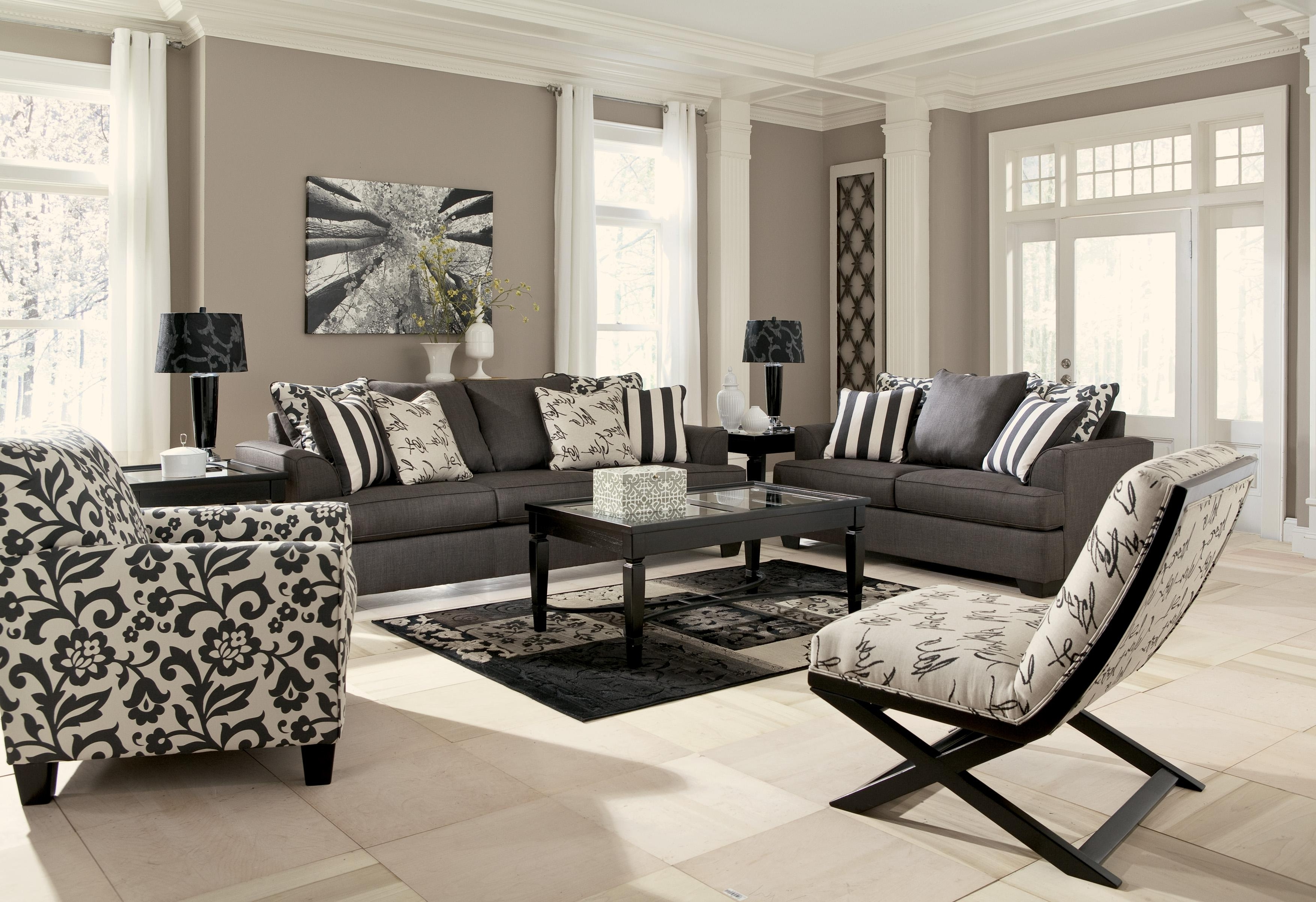 2017 Sofa And Accent Chair Sets With Accent Chair In Floral Printsignature Designashley (View 1 of 15)