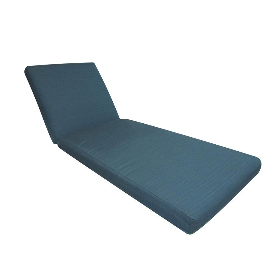 2017 Sunbrella Chaise Lounge Cushions Pertaining To Shop Allen + Roth Sunbrella Deep Sea Solid Cushion For Chaise (View 1 of 15)