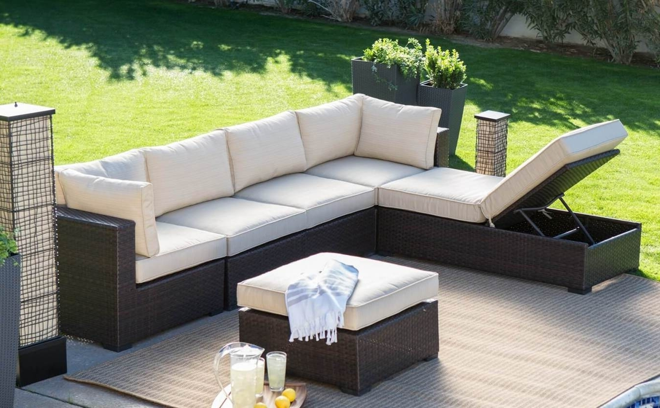2017 Tasty Wicker Outdoor Furniture Seven Hills Set On Lighting Intended For Kansas City Sectional Sofas (View 10 of 15)