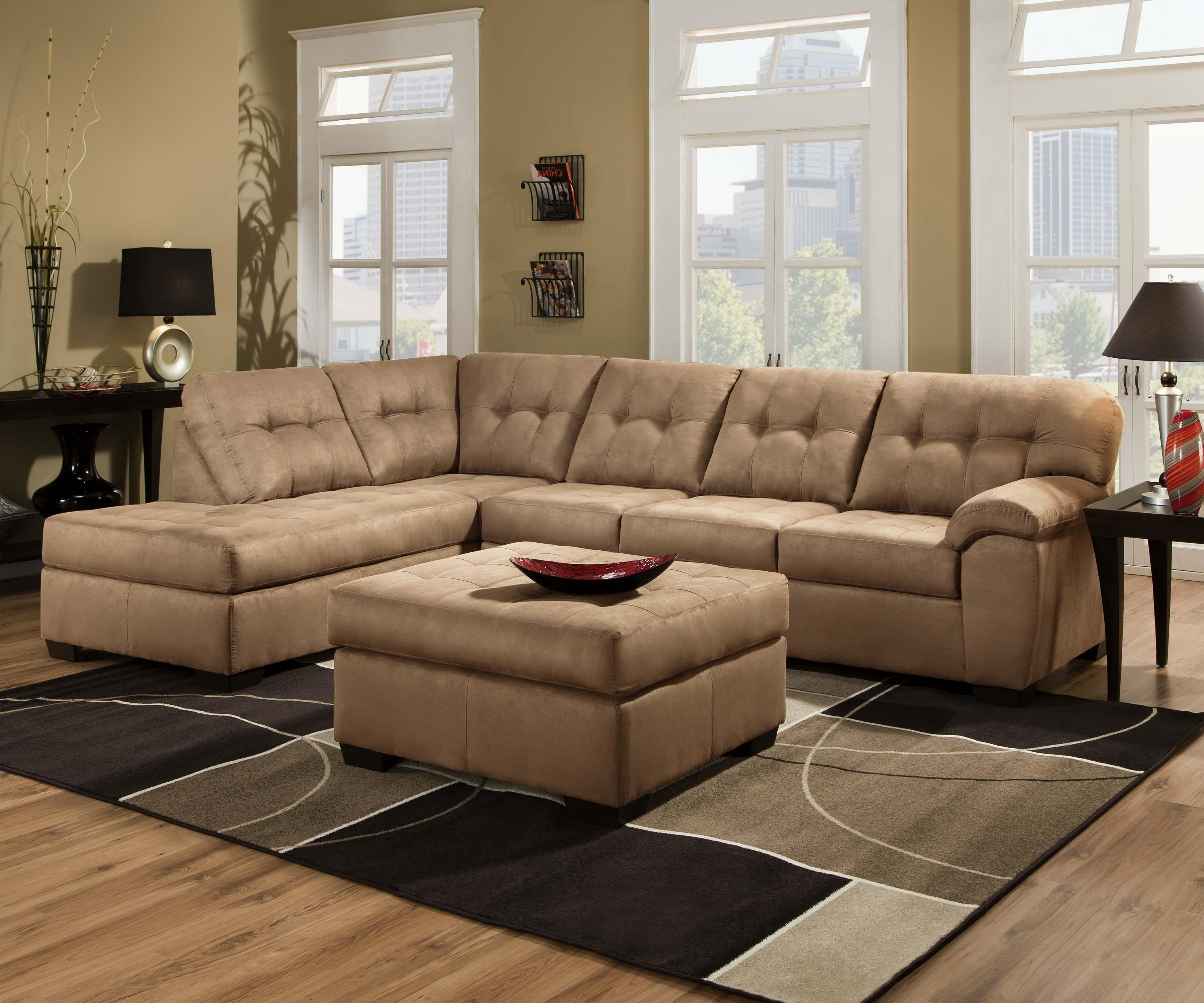 2017 United Furniture Industries 9558 Transitional 2 Piece Sectional For Jacksonville Nc Sectional Sofas (View 1 of 15)