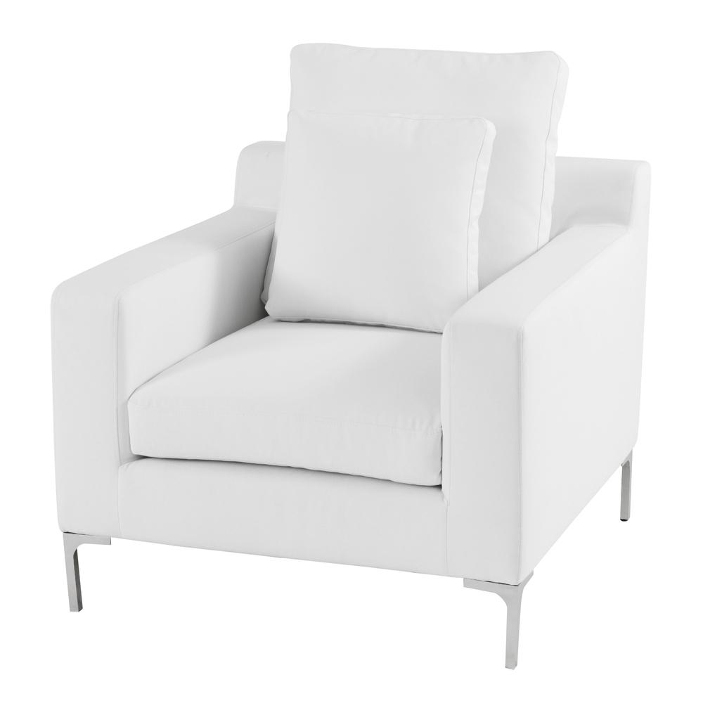 2017 White Sofa Chairs Pertaining To White Fabric Sofa Chair And Ottomanwhite Leather Sofa Chair Tags (View 1 of 15)