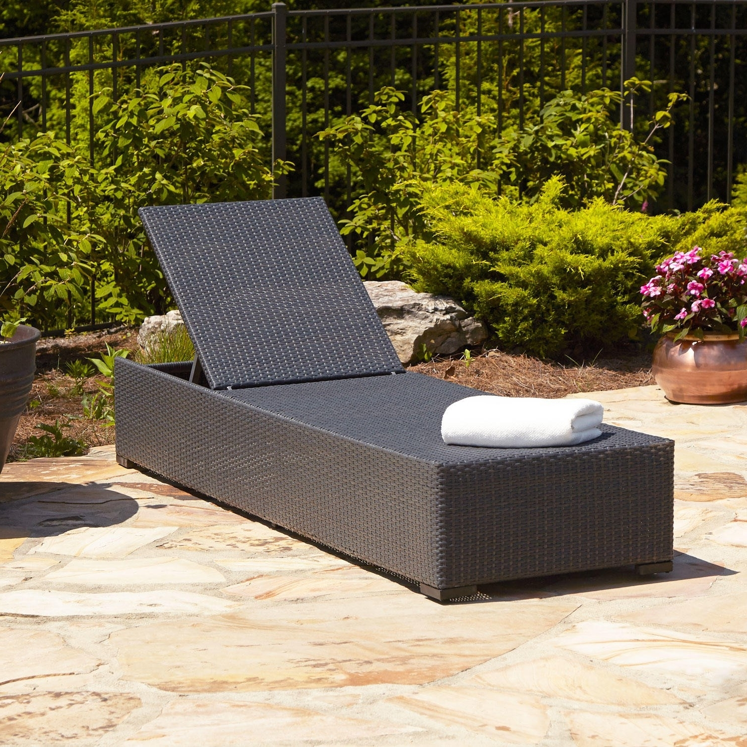 2017 Wicker Chaise Lounge Chairs For Outdoor Regarding Patio Chaise Lounge As The Must Have Furniture In Your Pool Deck (View 2 of 15)